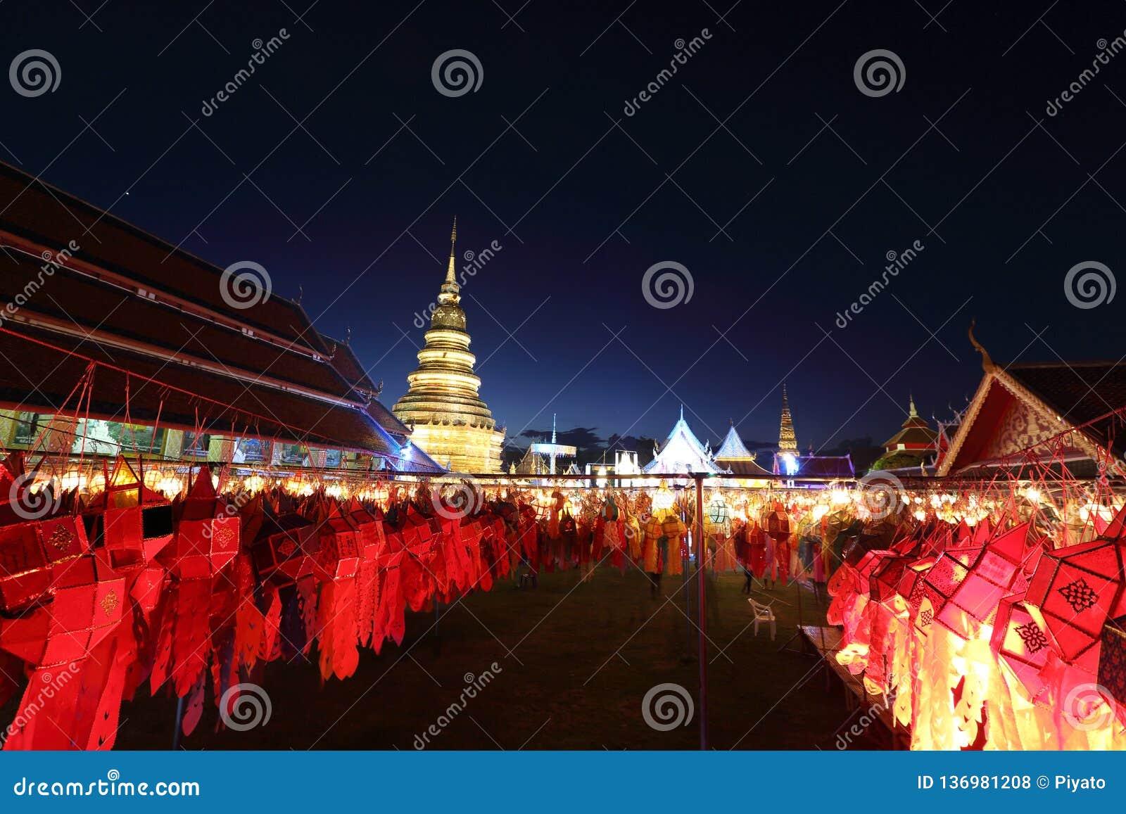 Laterne mit thailändischer Pagode