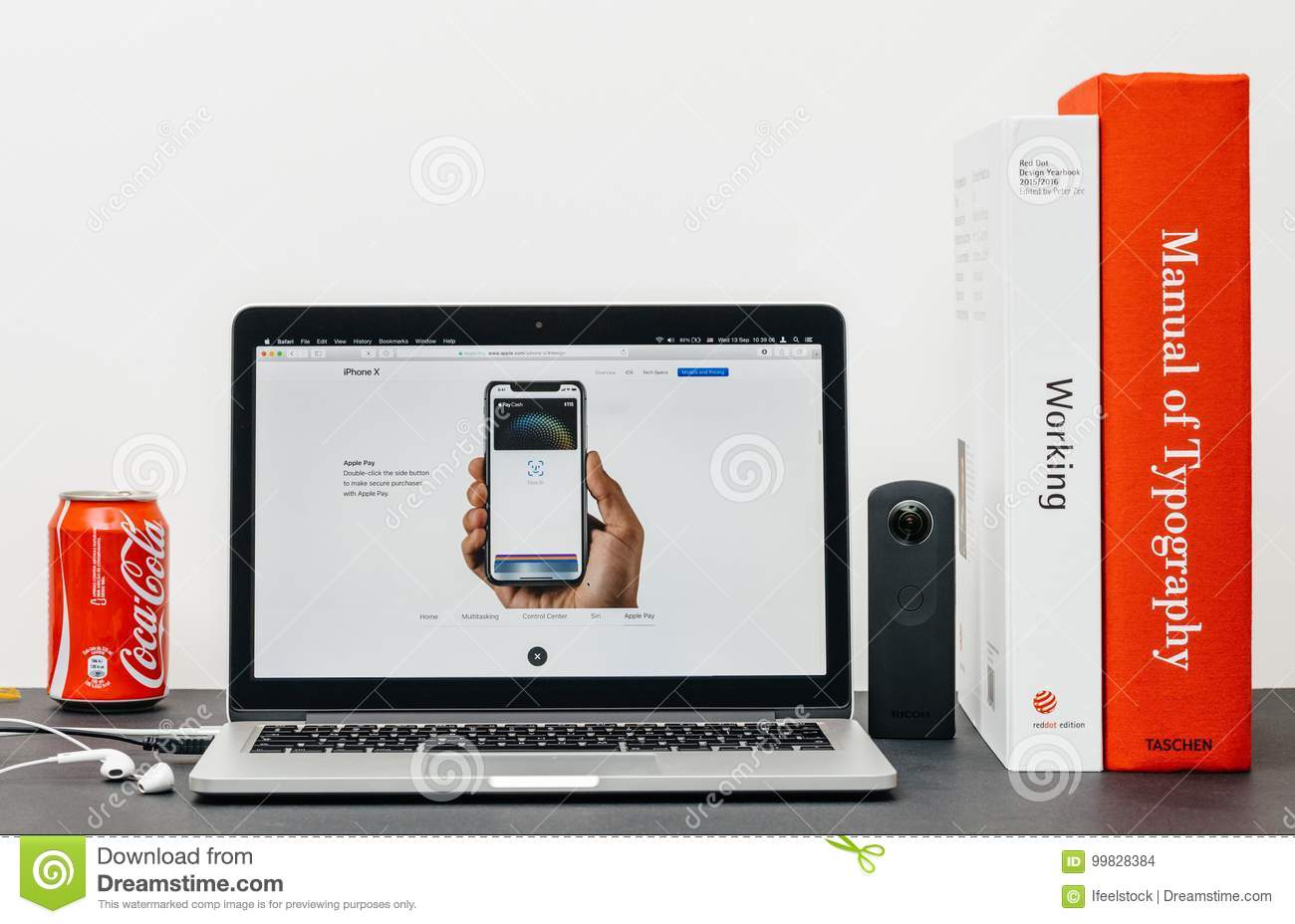 sale retailer b9130 92082 Latest IPhone X 10 With Apple Pay Face Id Editorial Stock Image ...