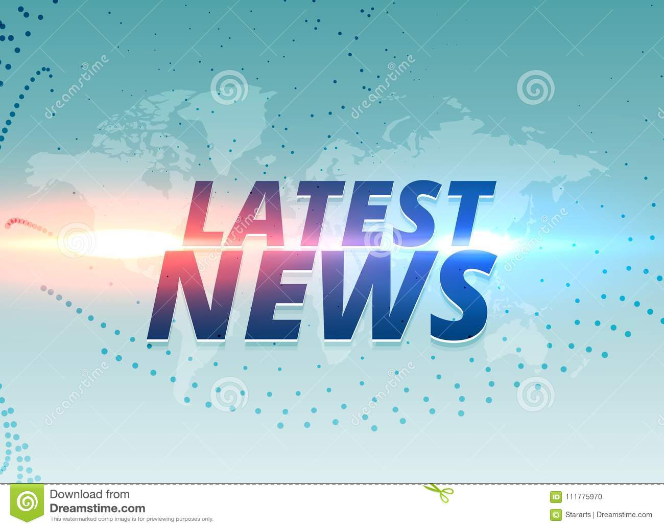 Latest news concept vector background