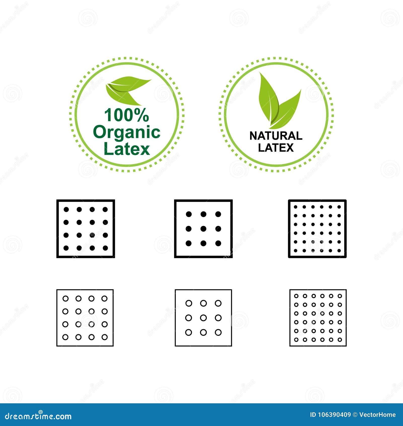 Latex Mattress Icon Vector Illustration Stock Vector