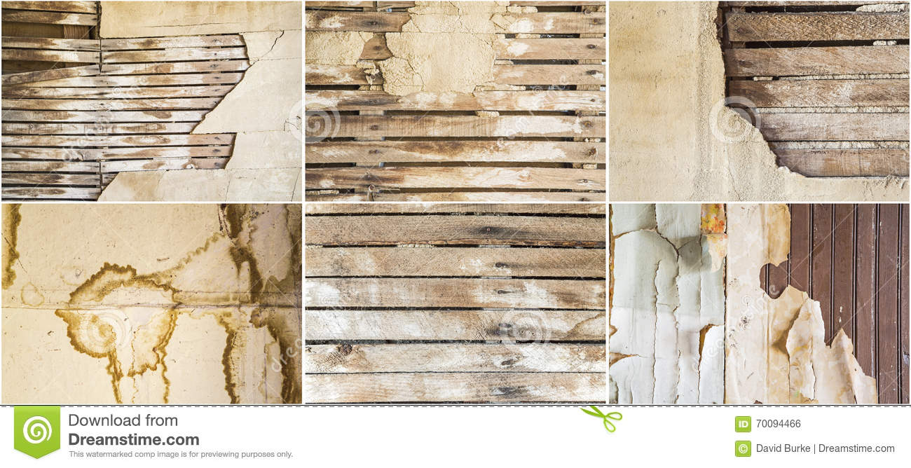 Plaster Wall Construction : Lath plaster wall old weathered stained background collage