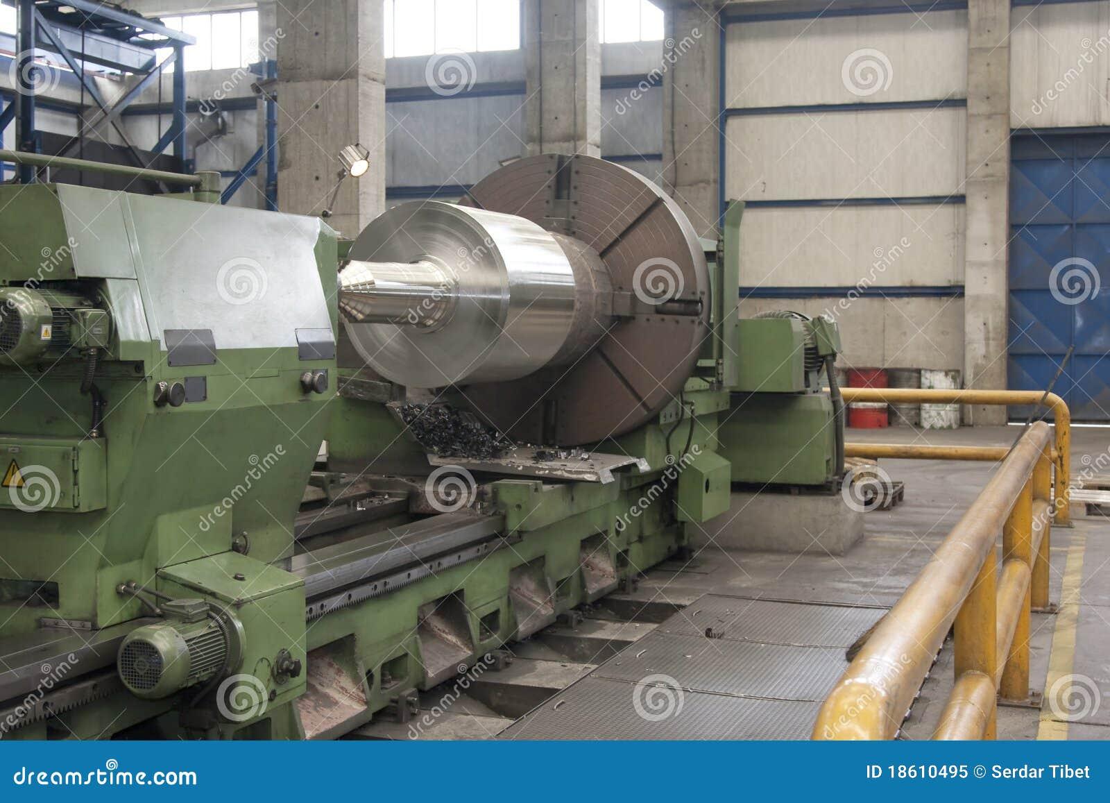 Lathe Grinder Stock Image Image Of Manufacturing
