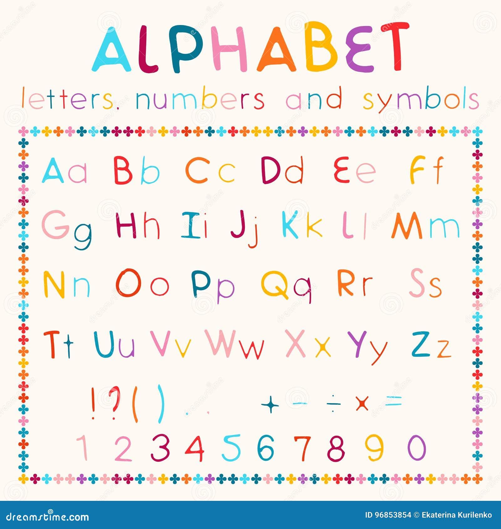 Latin Alphabet On White Background Stock Vector Illustration Of