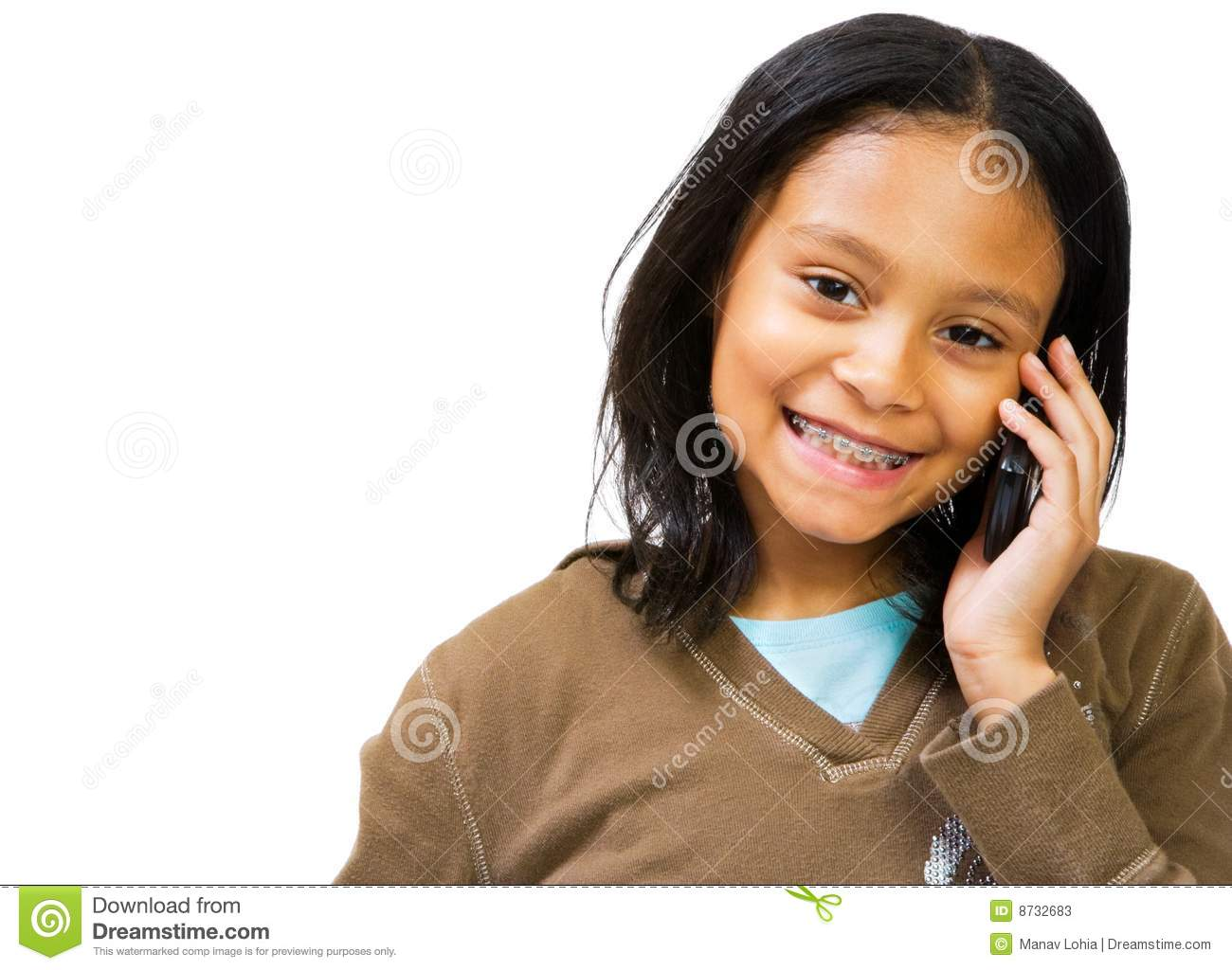 Girl Texting Clipart