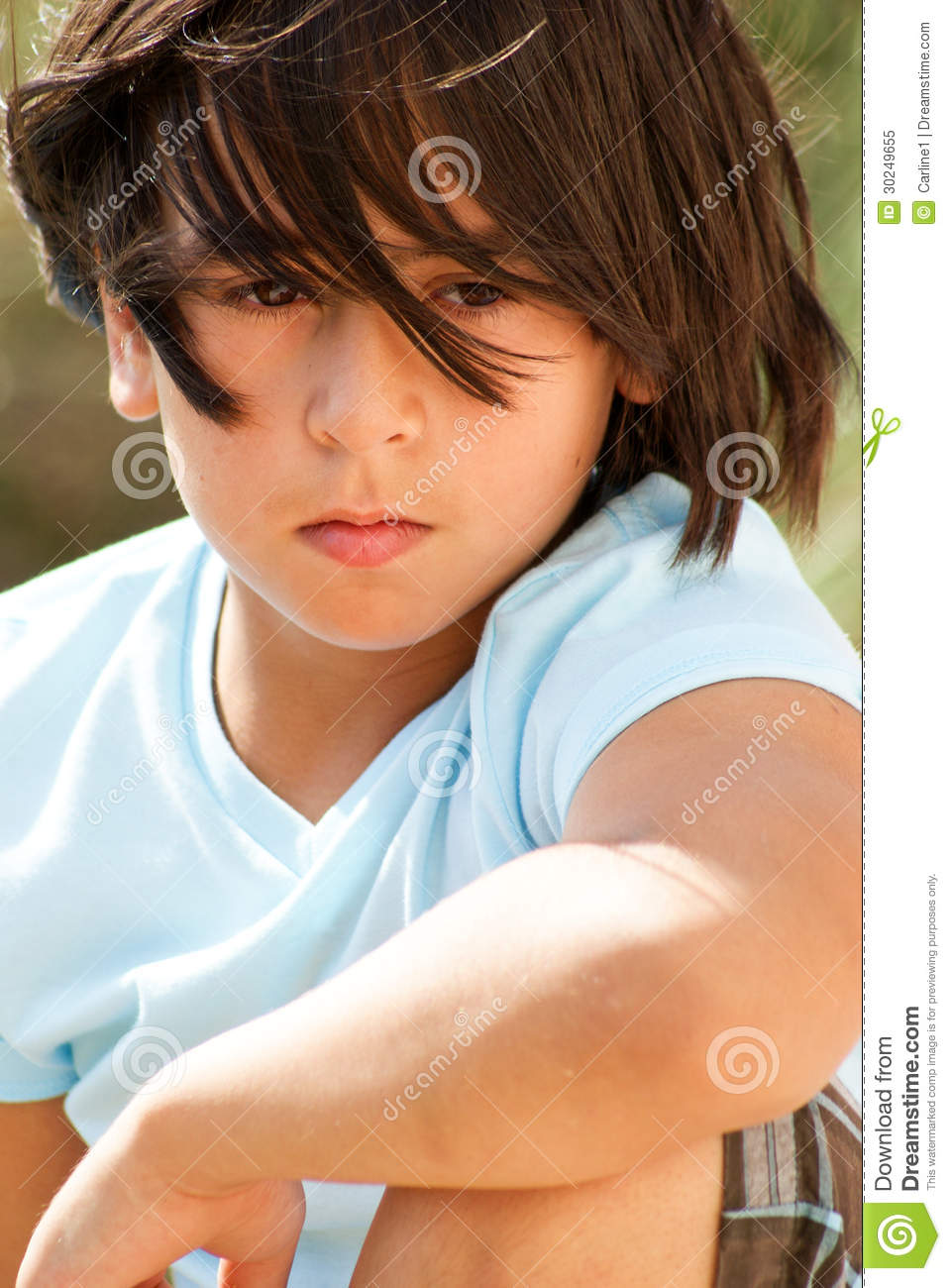 kid with problems royalty free stock photo