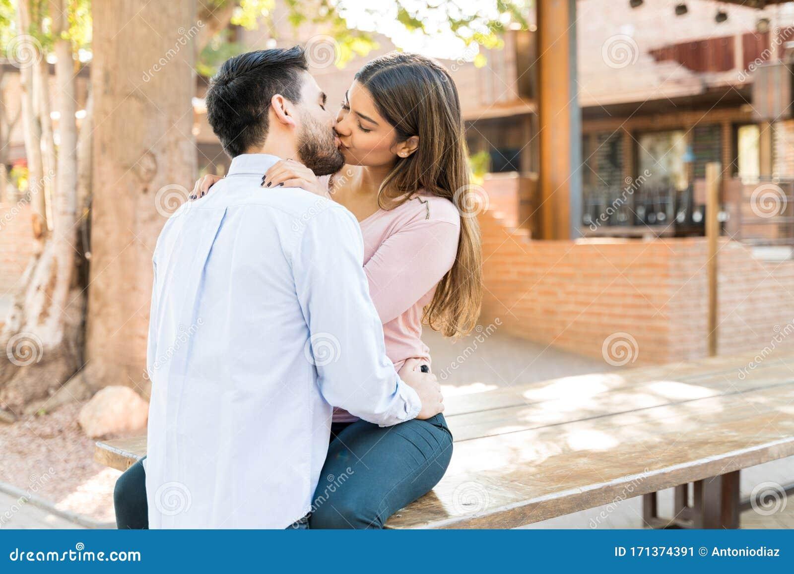 Passionate Hispanic Couple Kissing Stock Image - Image of