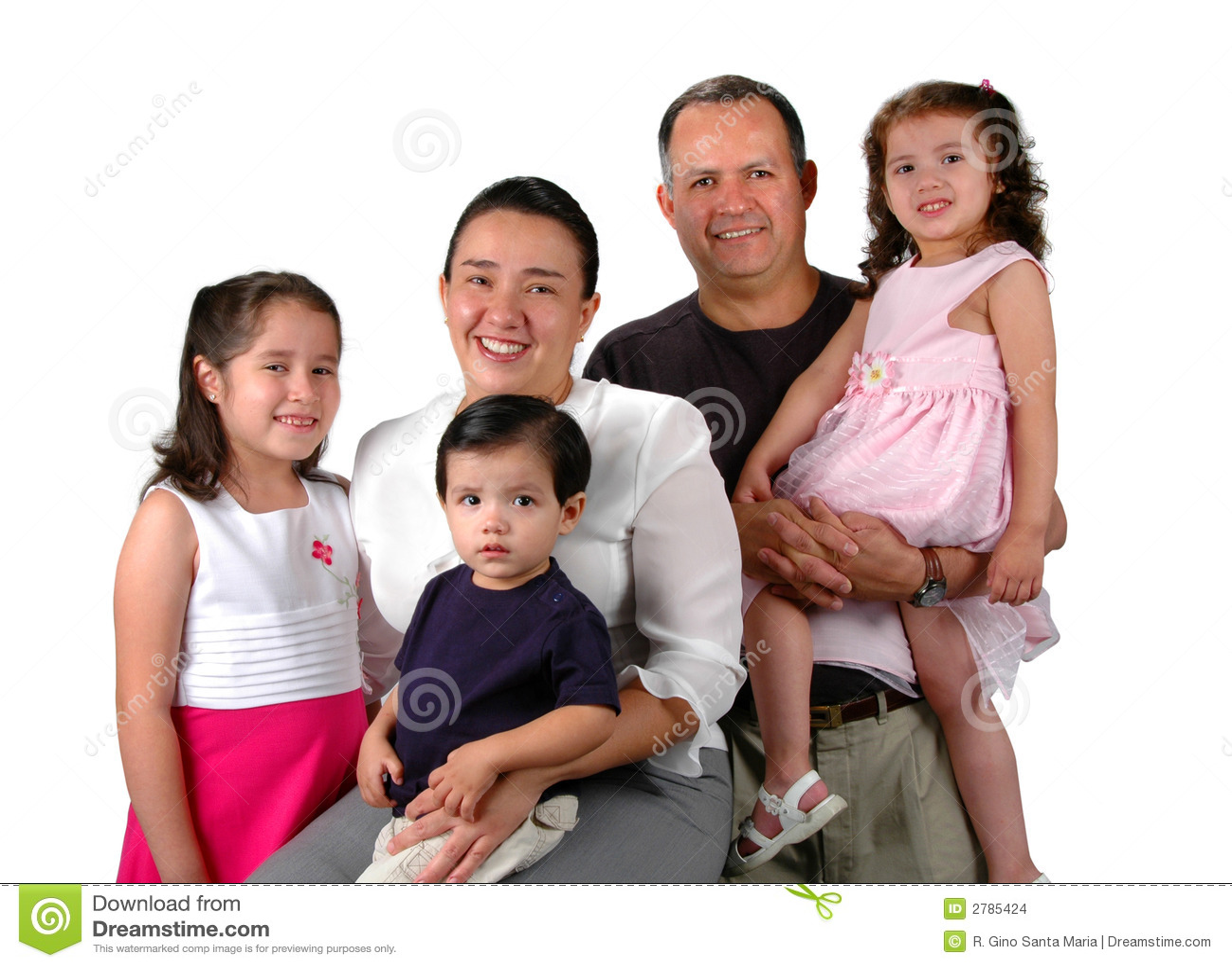 Latin Family Stock Images Image 2785424