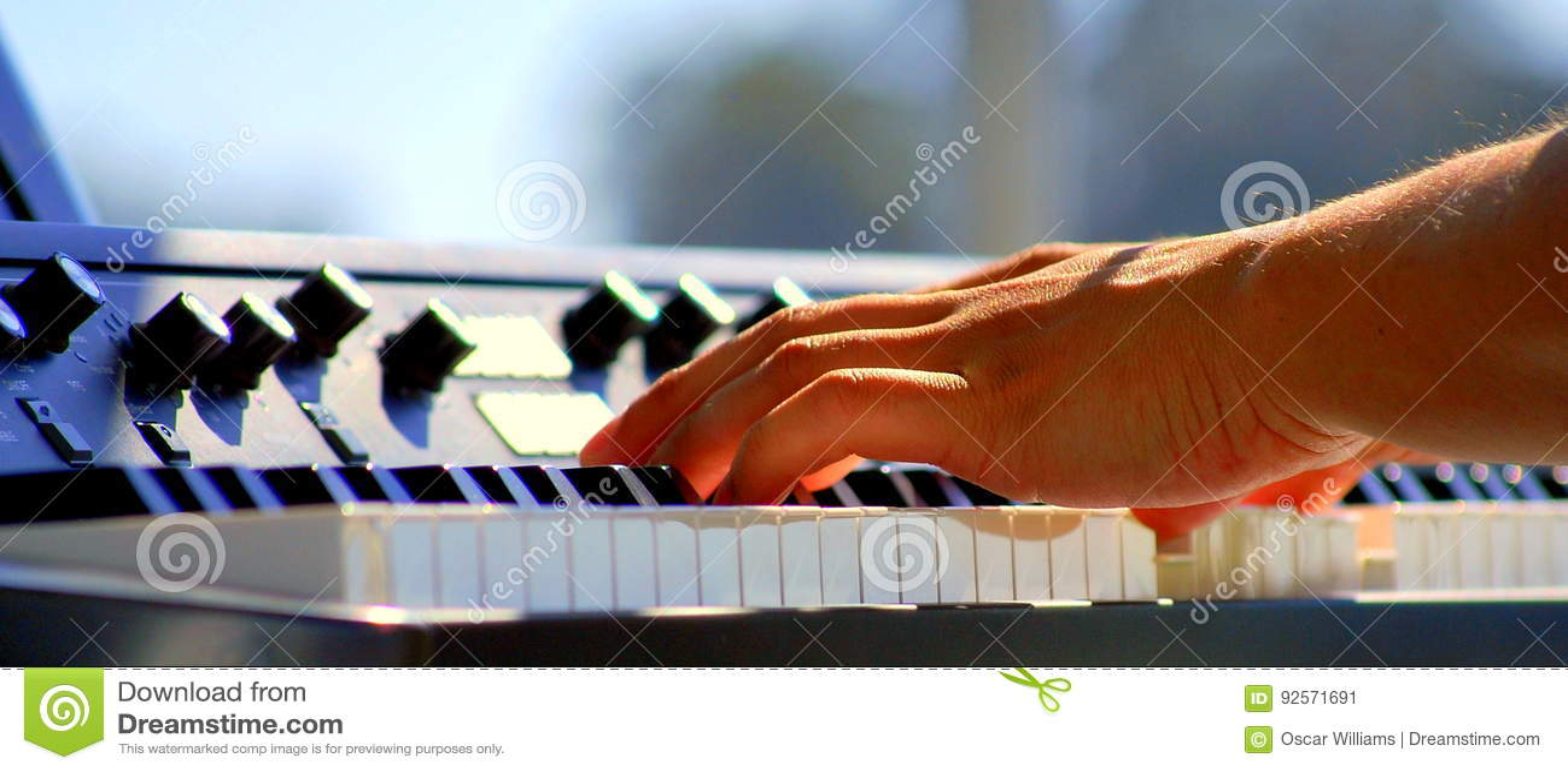 Latin jazz piano.