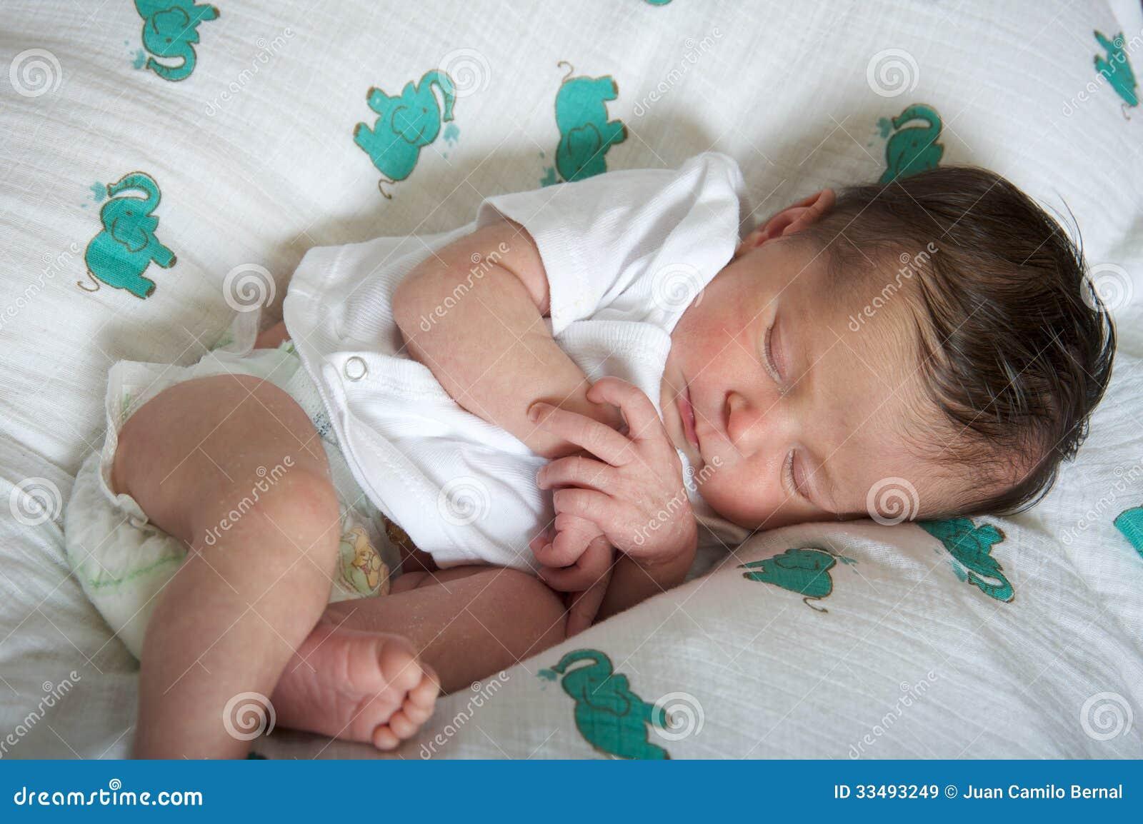 Download latin newborn baby girl sleeping peacefully stock image image of hispanic woman