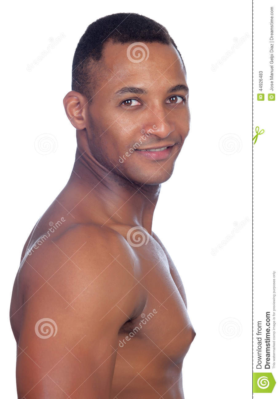 latin strong man isolated stock photo