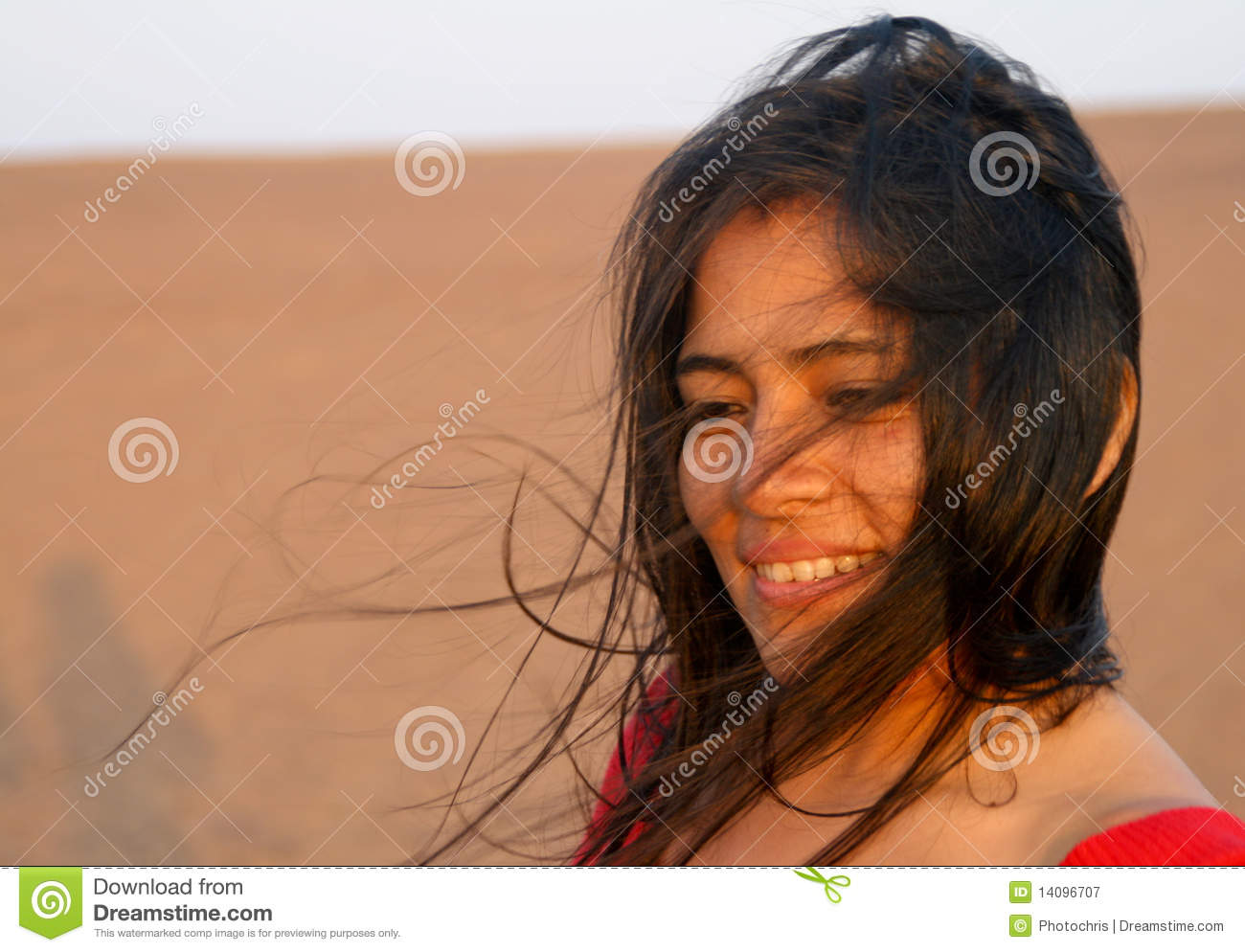 Latin Woman In Wind Royalty Free Stock Photography Image