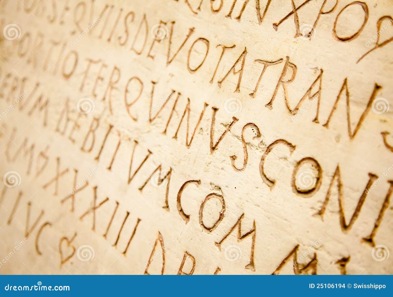 latin writing