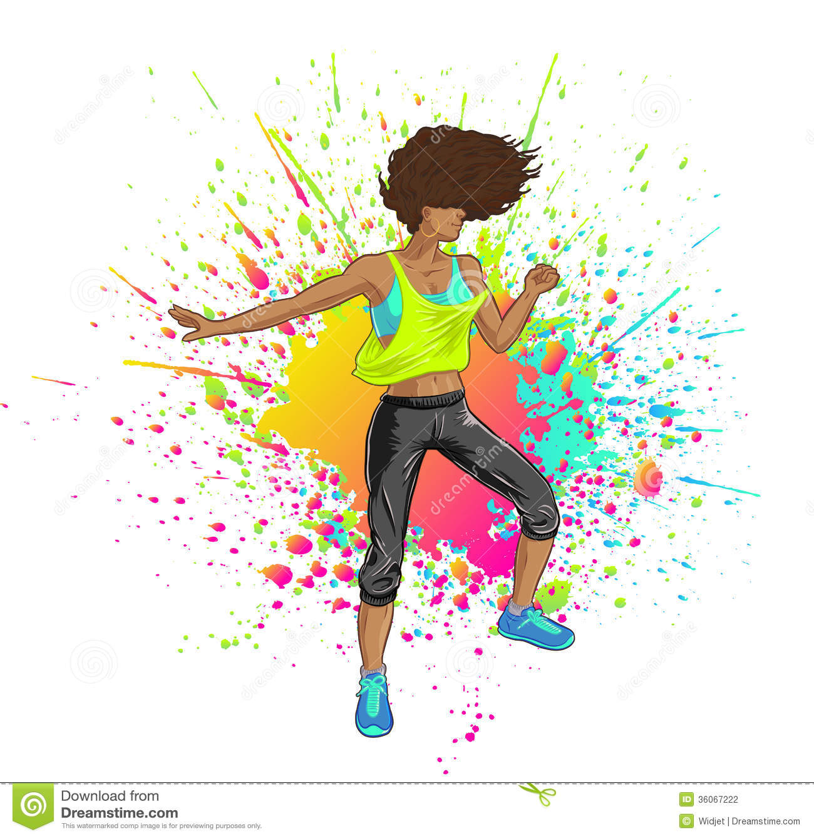 latina dancing zumba stock vector illustration of bokwa 36067222 superman clipart images superman clip art to print