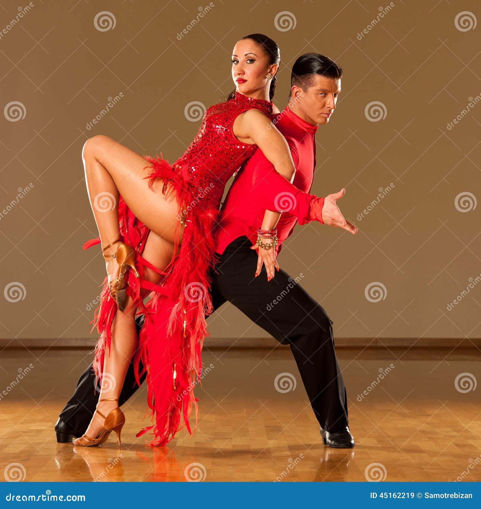 Latino Dance Couple In Action - Dancing Wild Samba Stock Photo - Image ...