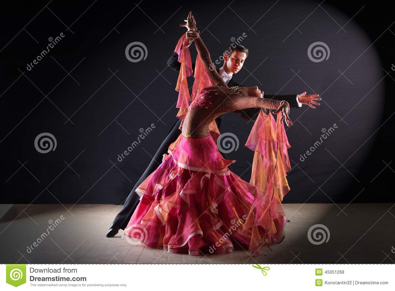Latino Dancers In Ballroom Stock Photo - Image: 45051268