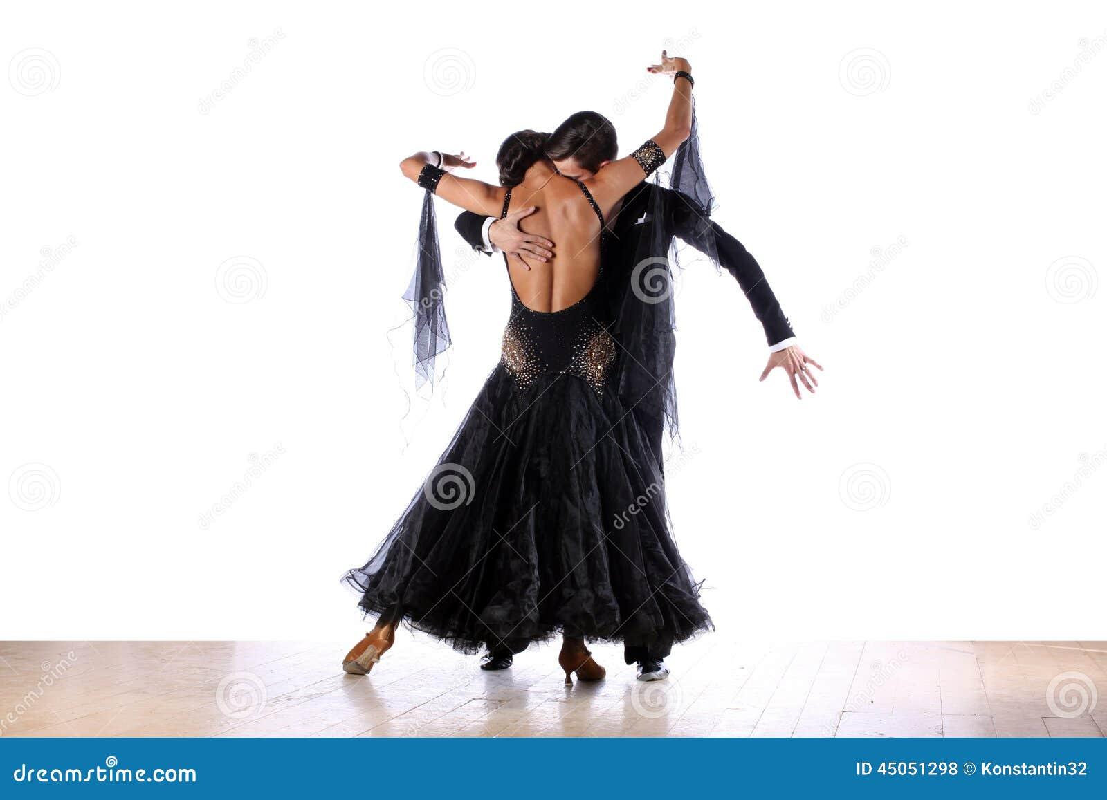 Latino dansers in balzaal