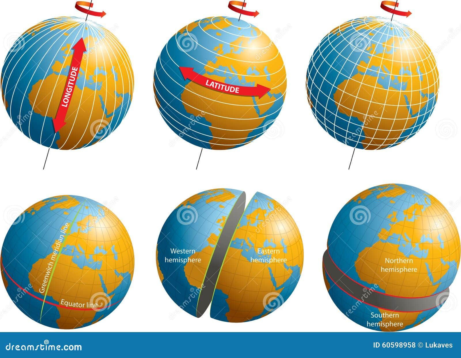 Latitude Longitude Stock Illustration Image 60598958