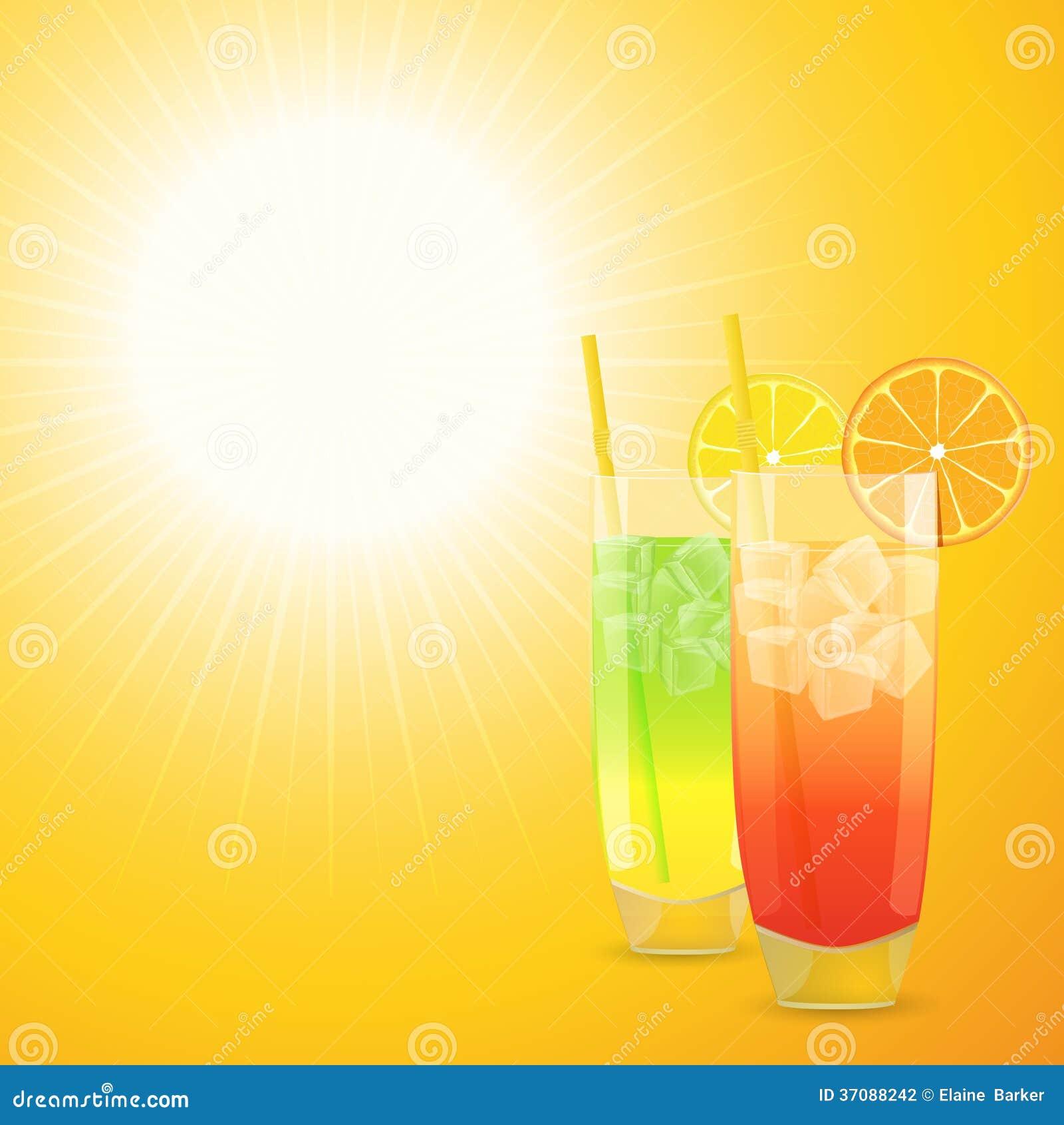Download Lato koktajlu tło ilustracja wektor. Ilustracja złożonej z ilustracje - 37088242