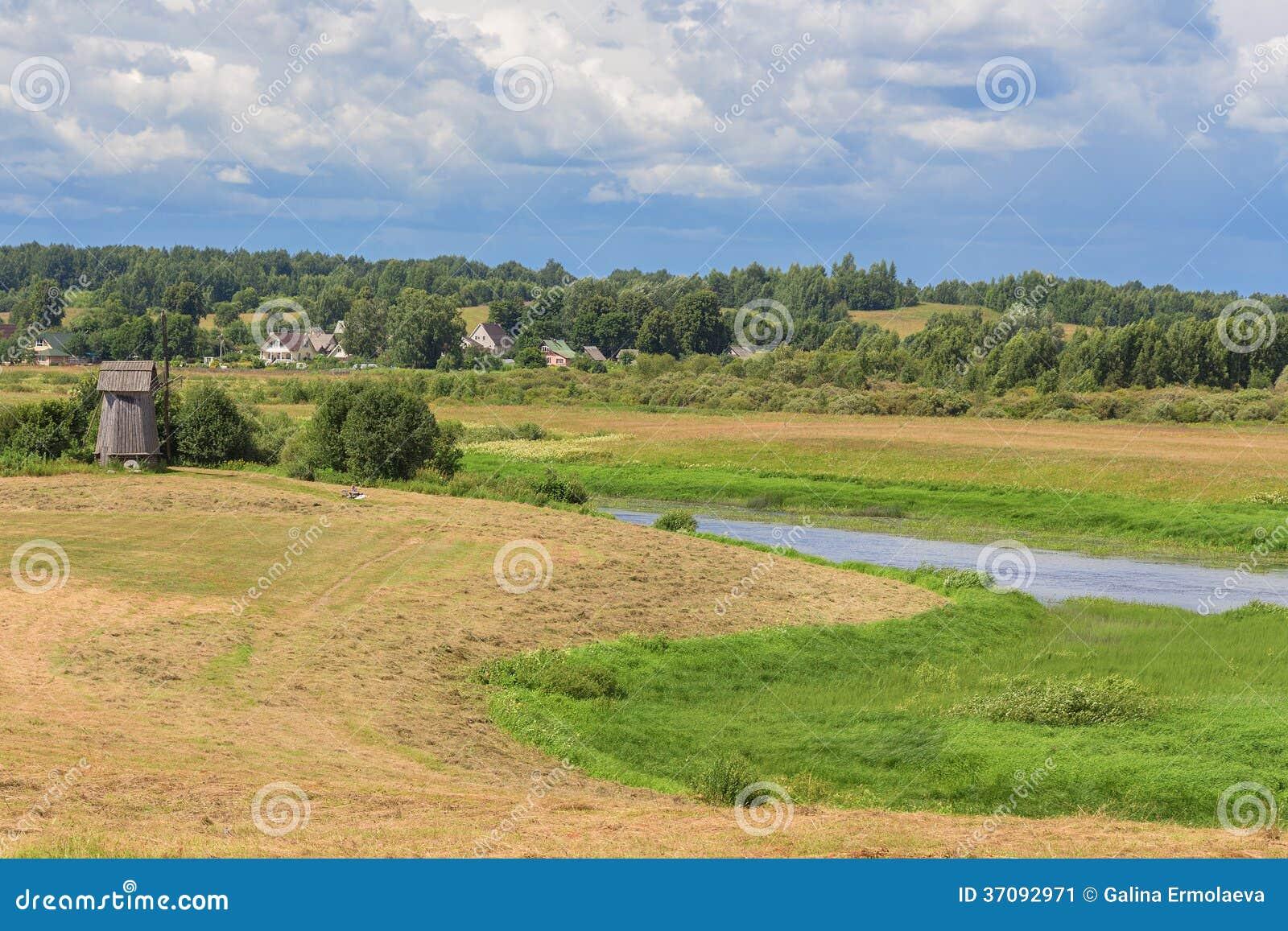 Download Lato krajobraz z polem obraz stock. Obraz złożonej z sezon - 37092971