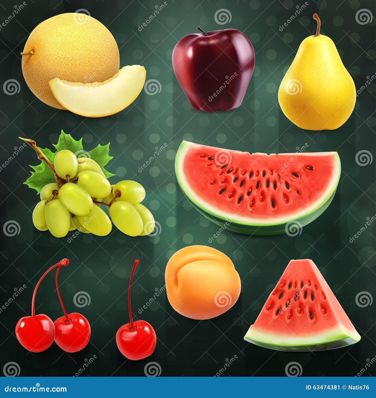 Lato owoc ilustracje