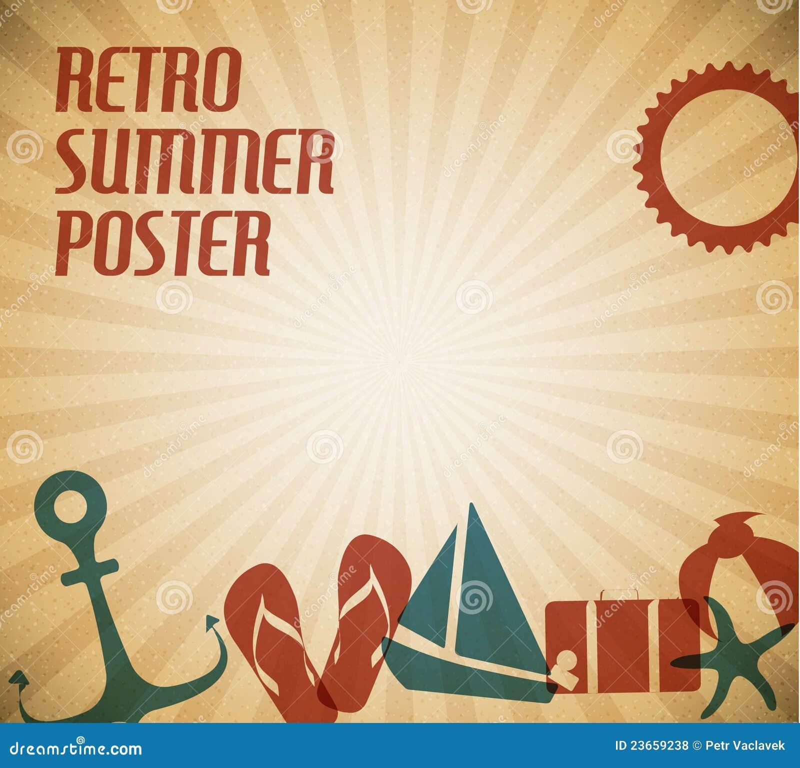 Lato plakatowy wektor