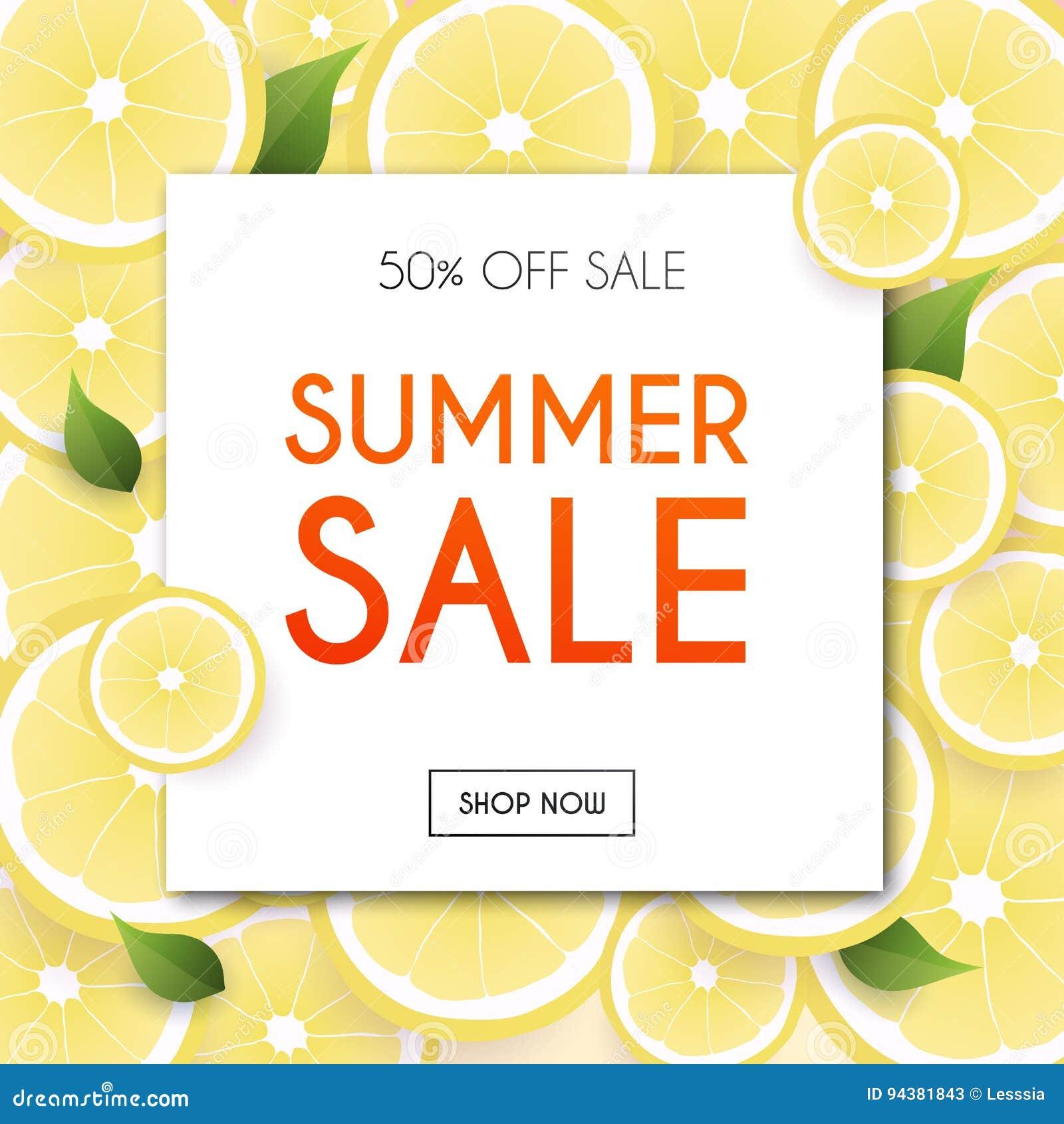 Lato sprzedaży sztandar Plakat, ulotka, wektor