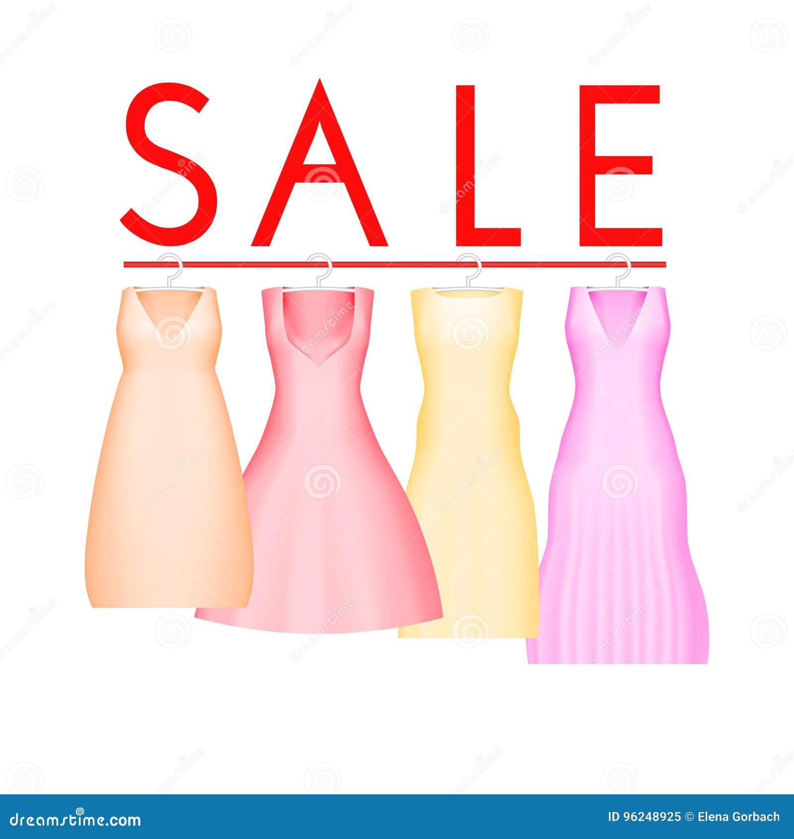 Lato sprzedaży tło z żywą partyjną suknią Wektorowy tło dla sztandaru, plakat, ulotka, karta, pocztówka, pokrywa