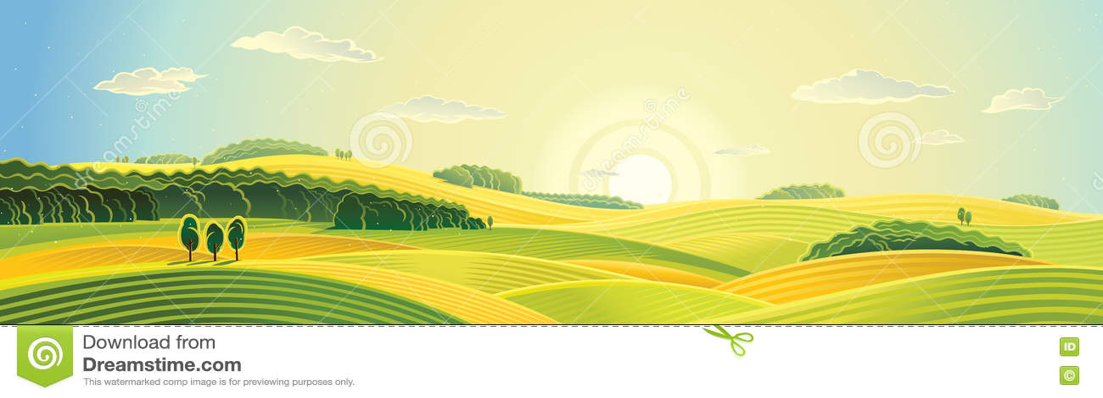 Lato wiejski krajobraz