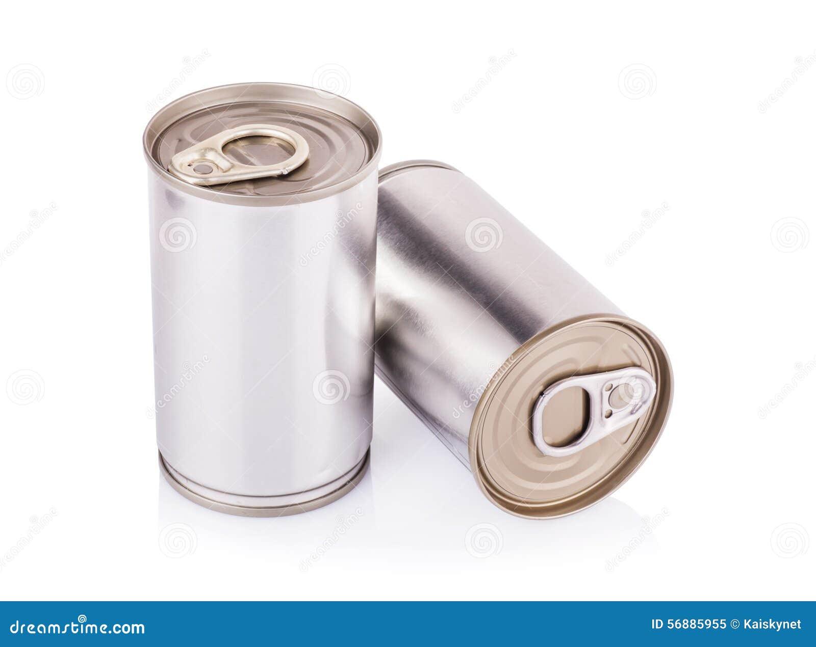 Latta di alluminio su un fondo bianco