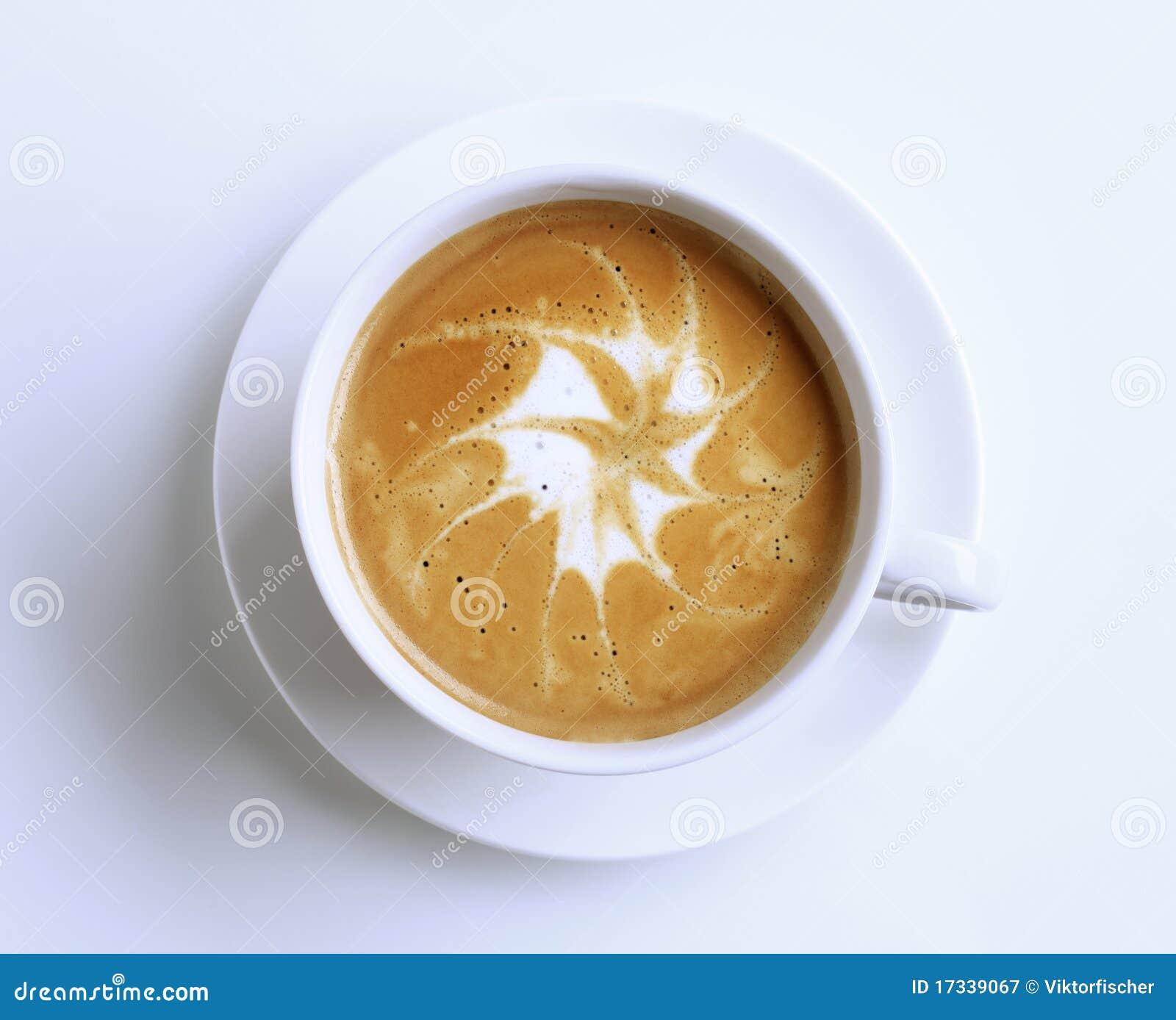 Latte avec l art de mousse