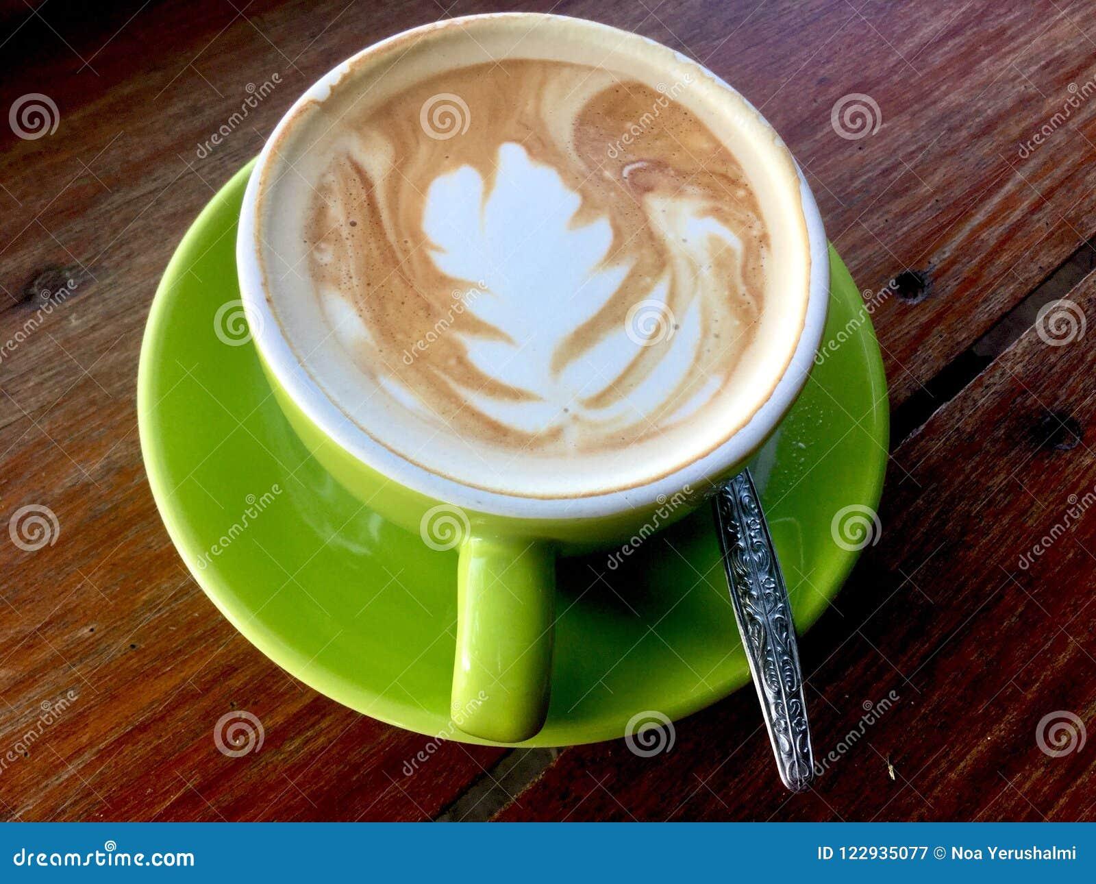 Latte di Caffe Tazza verde