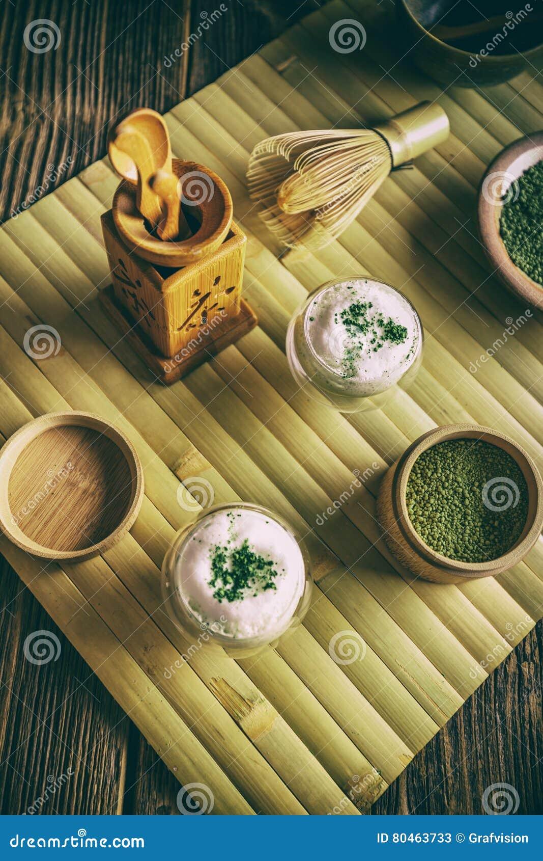 Latte do chá verde de Matcha