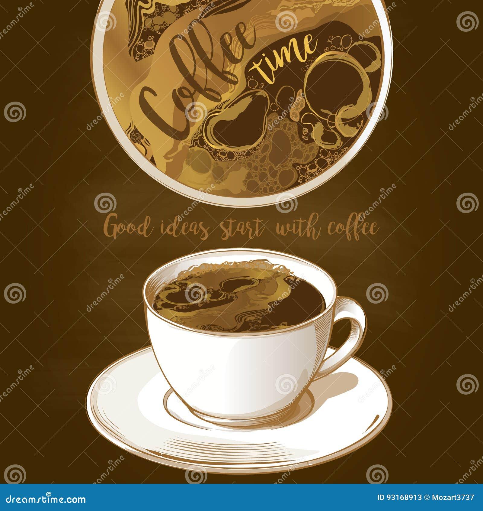 Latte för kaffekopp