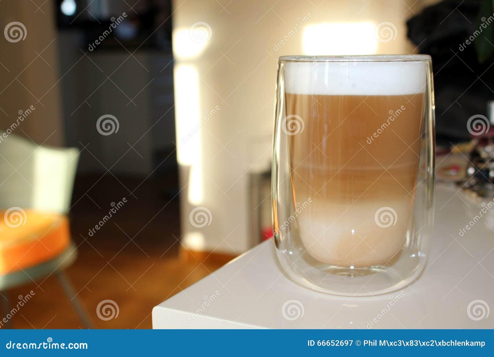 latte macchiato glas on board stock photo image 66652697. Black Bedroom Furniture Sets. Home Design Ideas