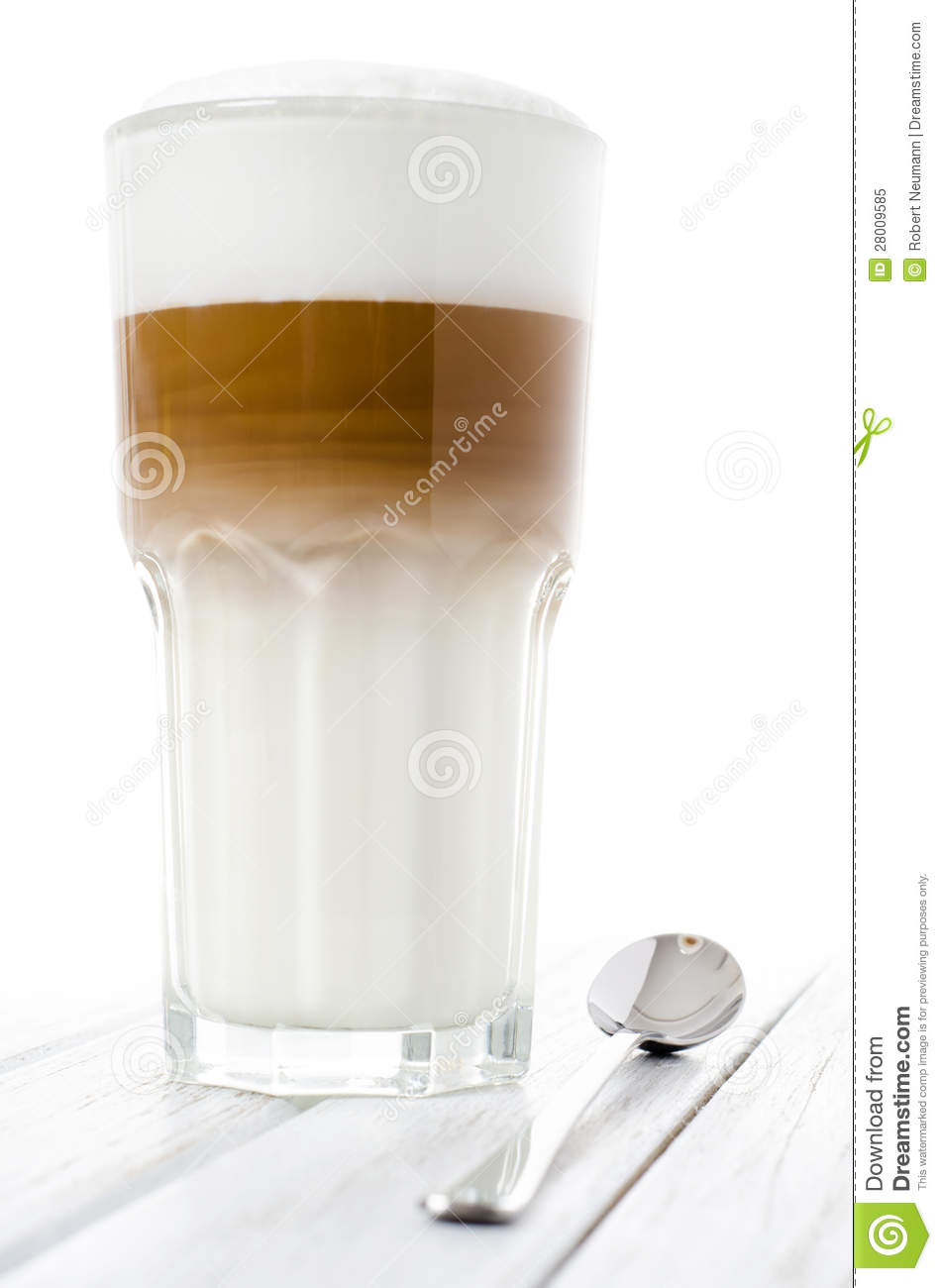 latte macchiato in a glass royalty free stock photo image 28009585. Black Bedroom Furniture Sets. Home Design Ideas