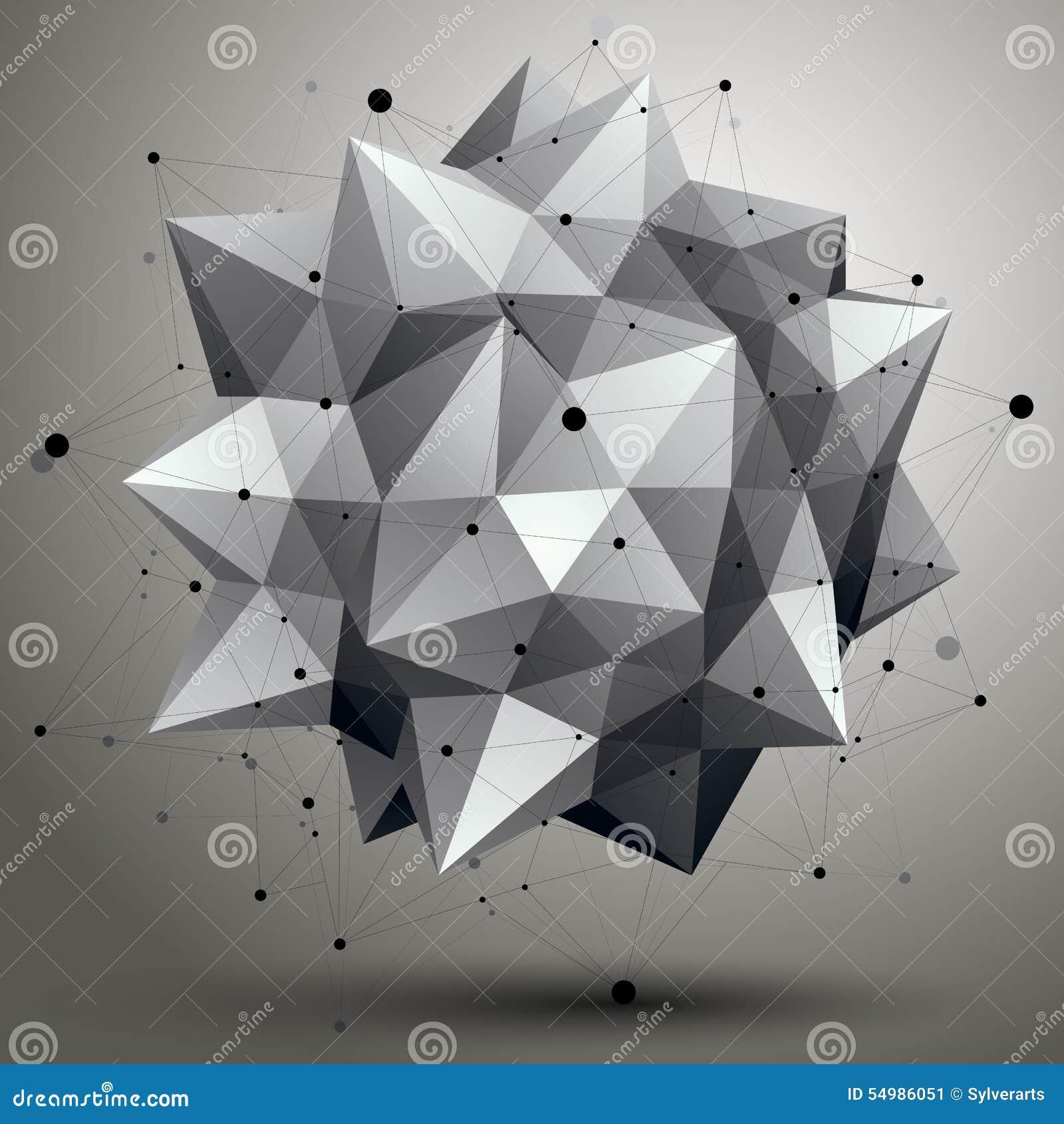 Lattice den digitala abstraktionen 3d för vektorn, geometrisk polygonal eleme