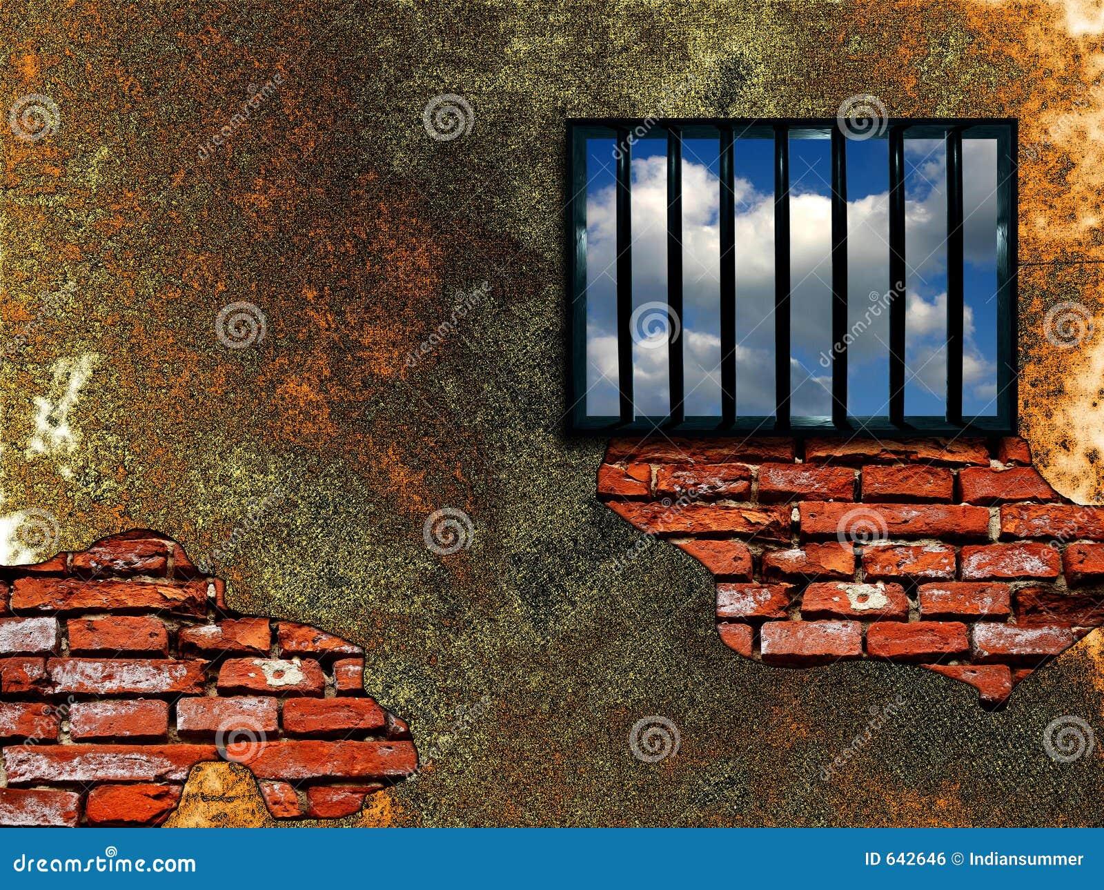 Latticed fängelsefönster