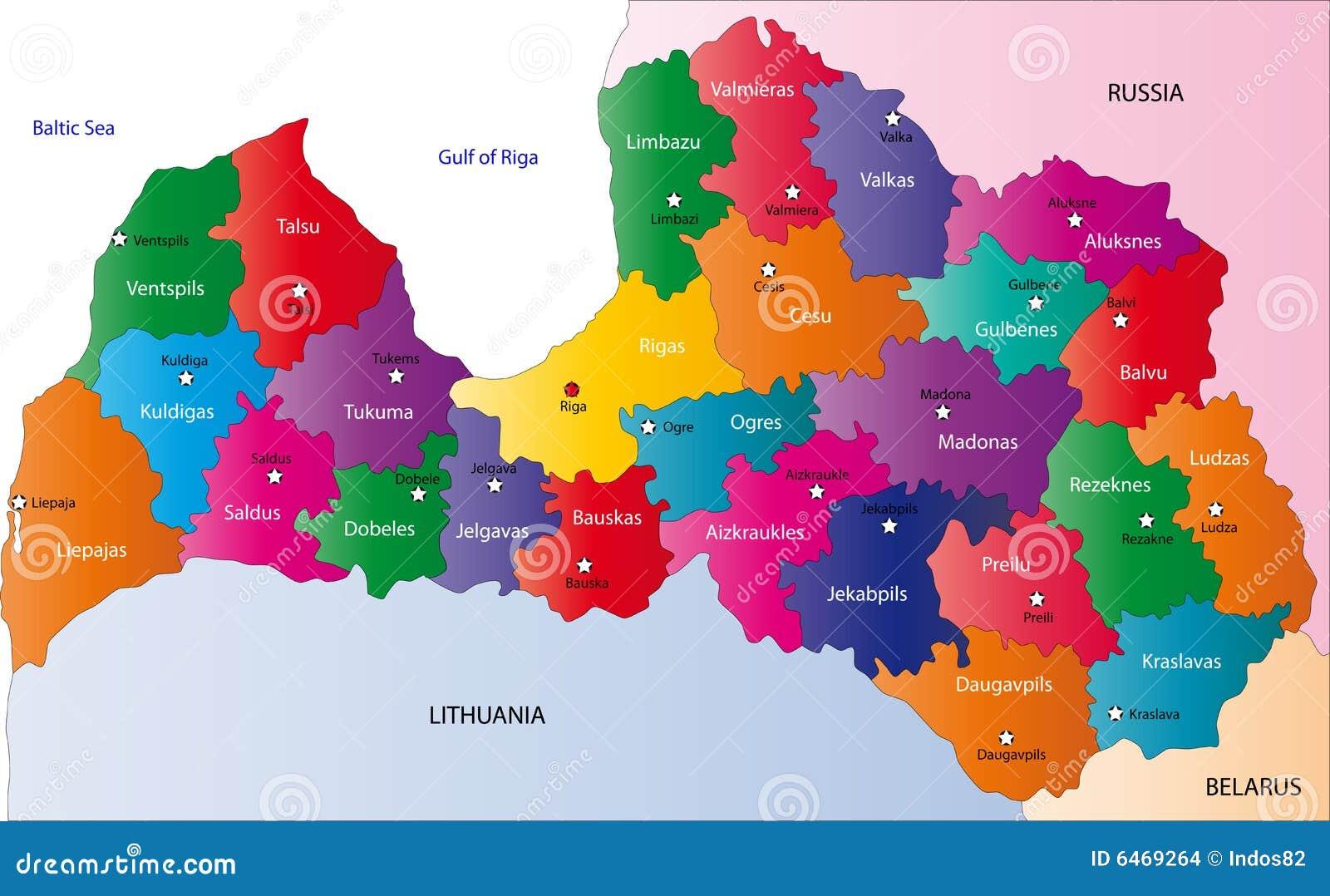 Latvia mapa