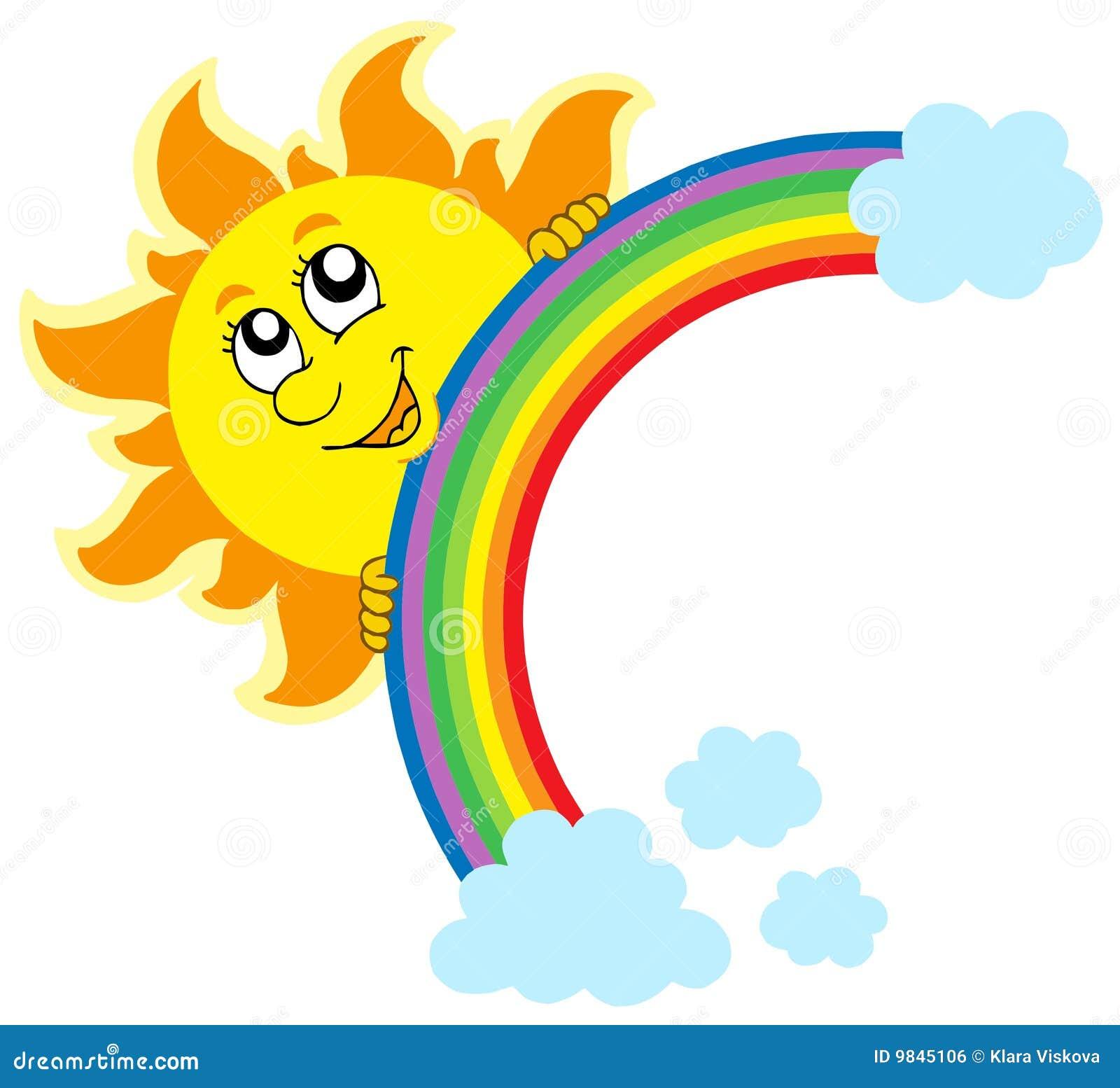 Lauernder Sun mit Regenbogen