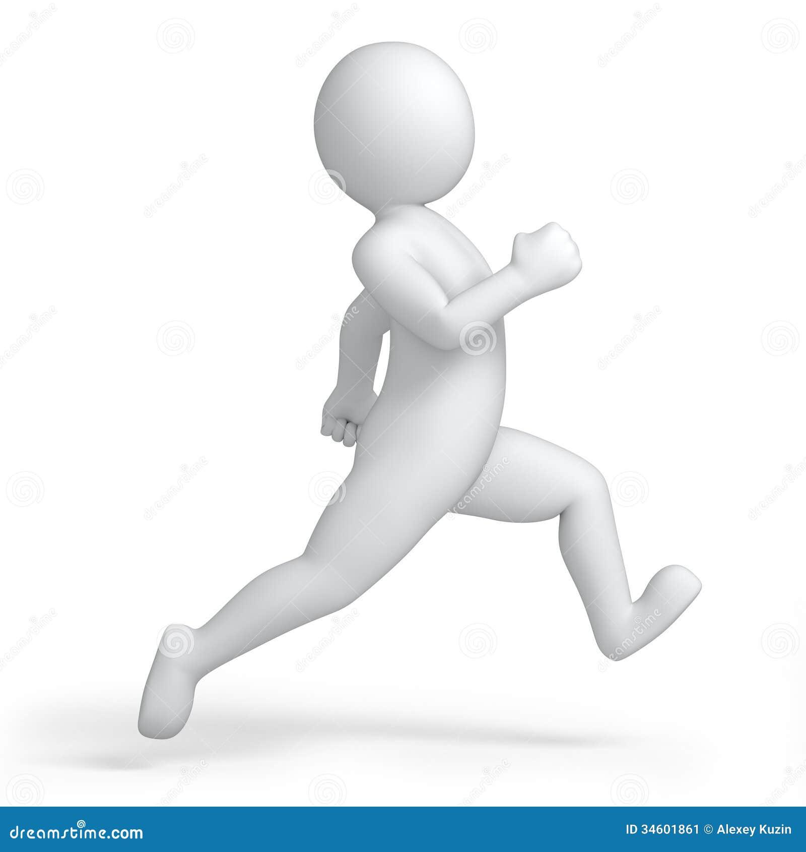Laufender Mensch 3d stock abbildung. Illustration von ...