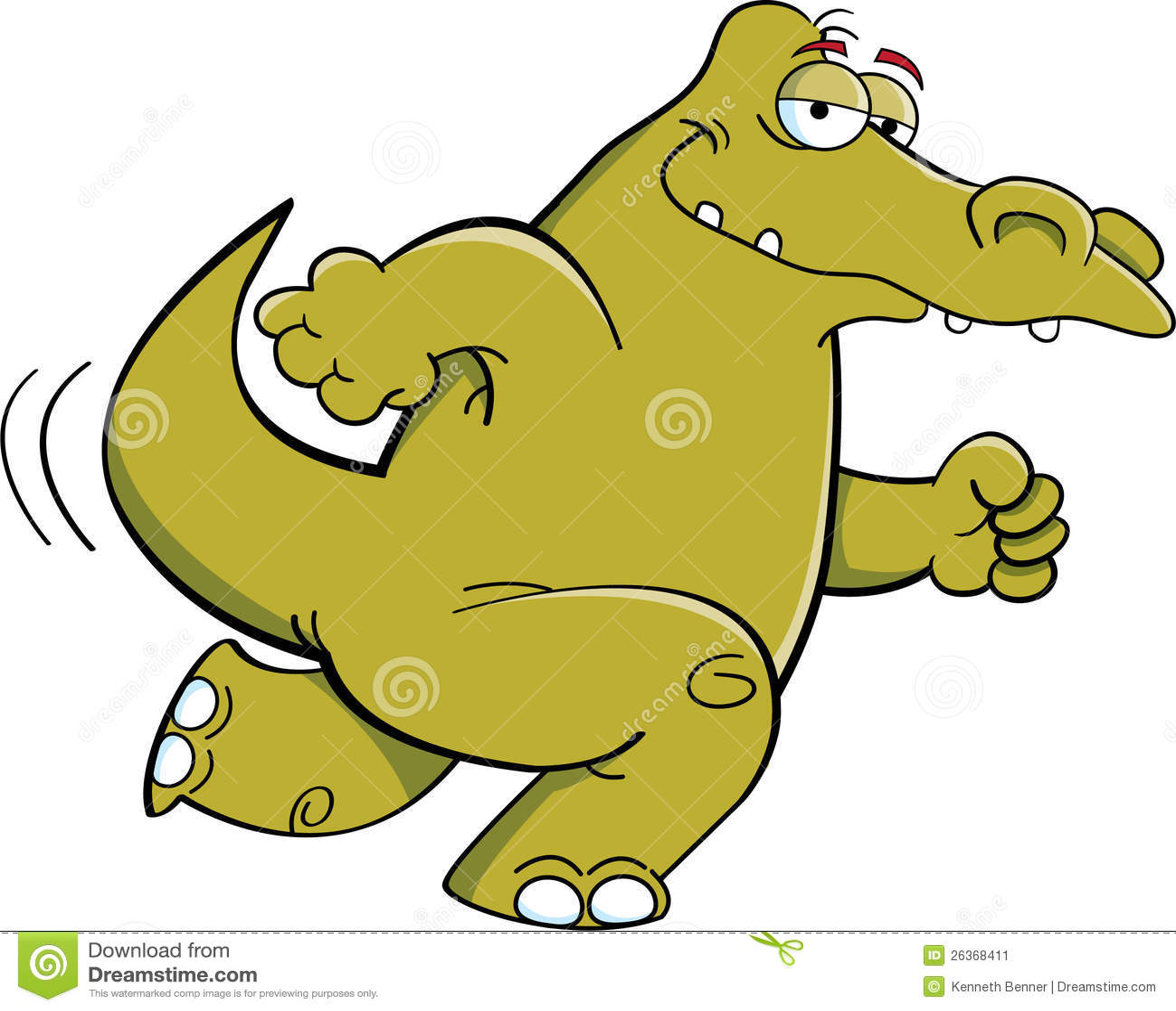Laufendes Krokodil