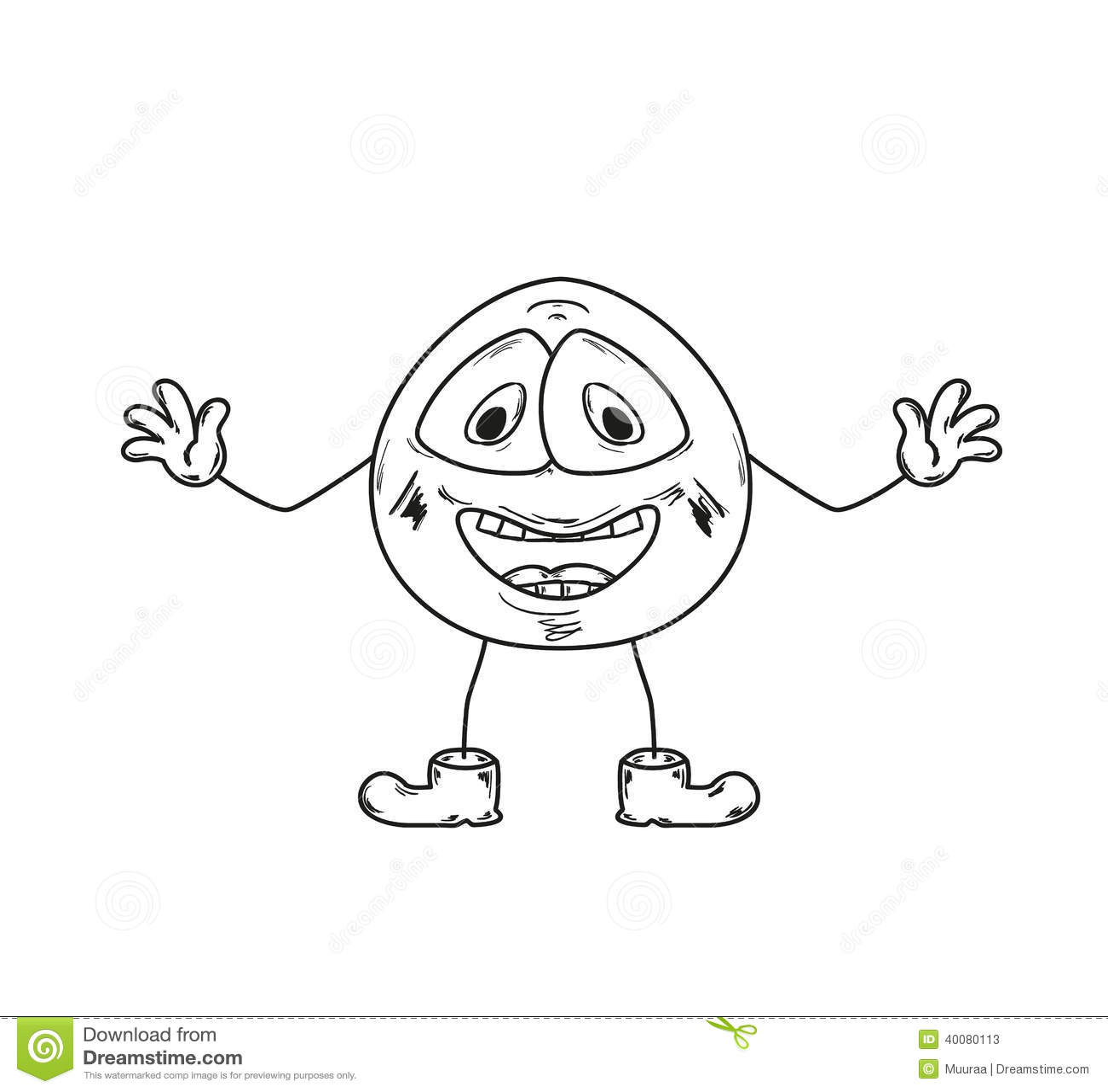 laugh emoticon sketch stock illustration image 40080113