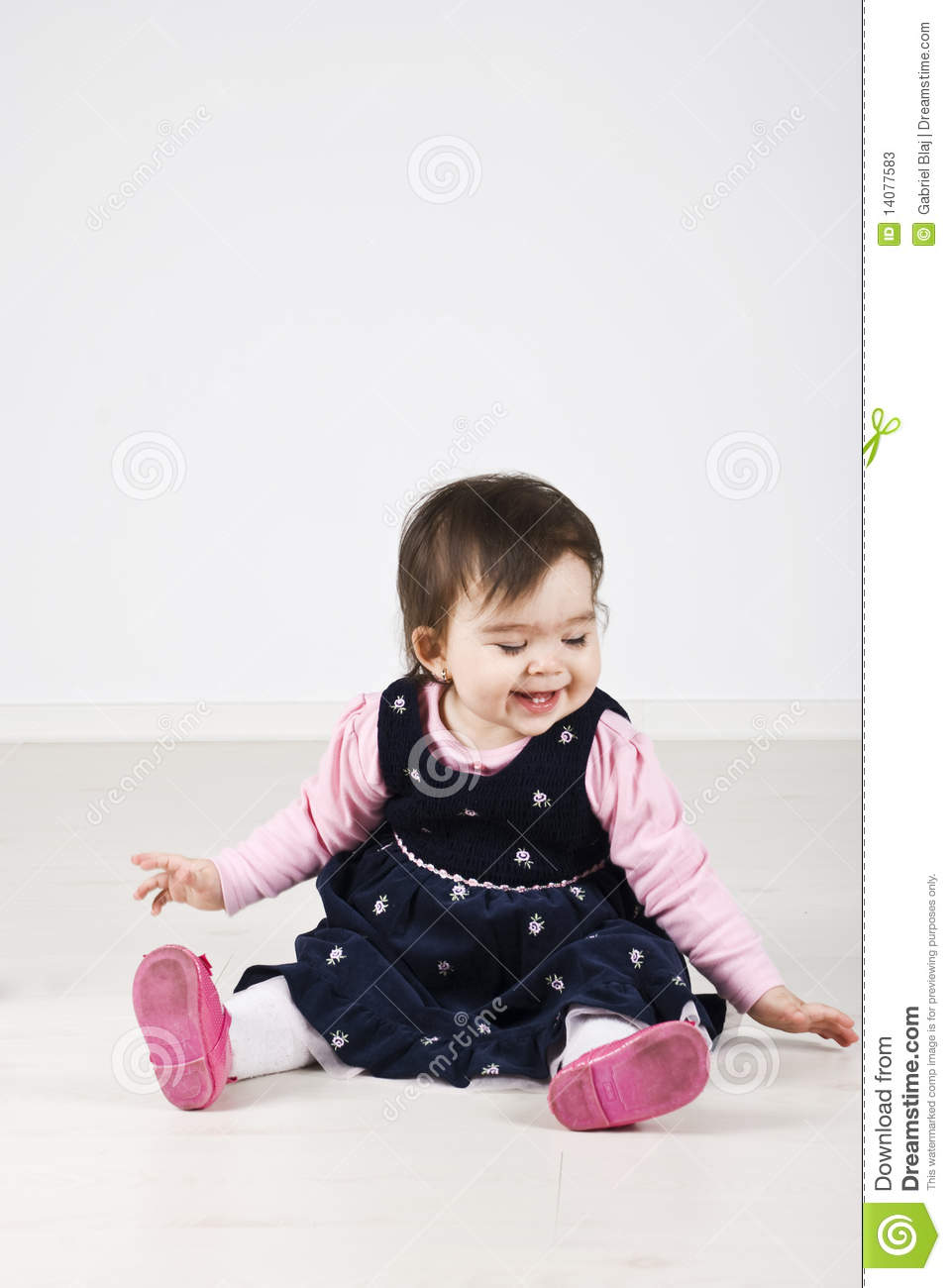 Laughing Baby Girl Stock Photos - Image: 14077583