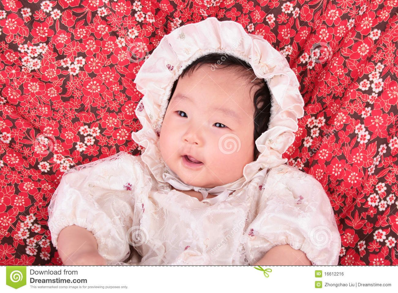 Laughing BABY GIRL Royalty Free Stock Image - Image: 16612216
