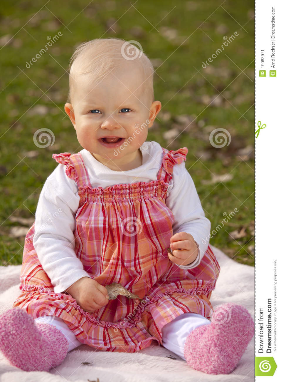 Laughing Baby Girl Stock Image - Image: 19083971