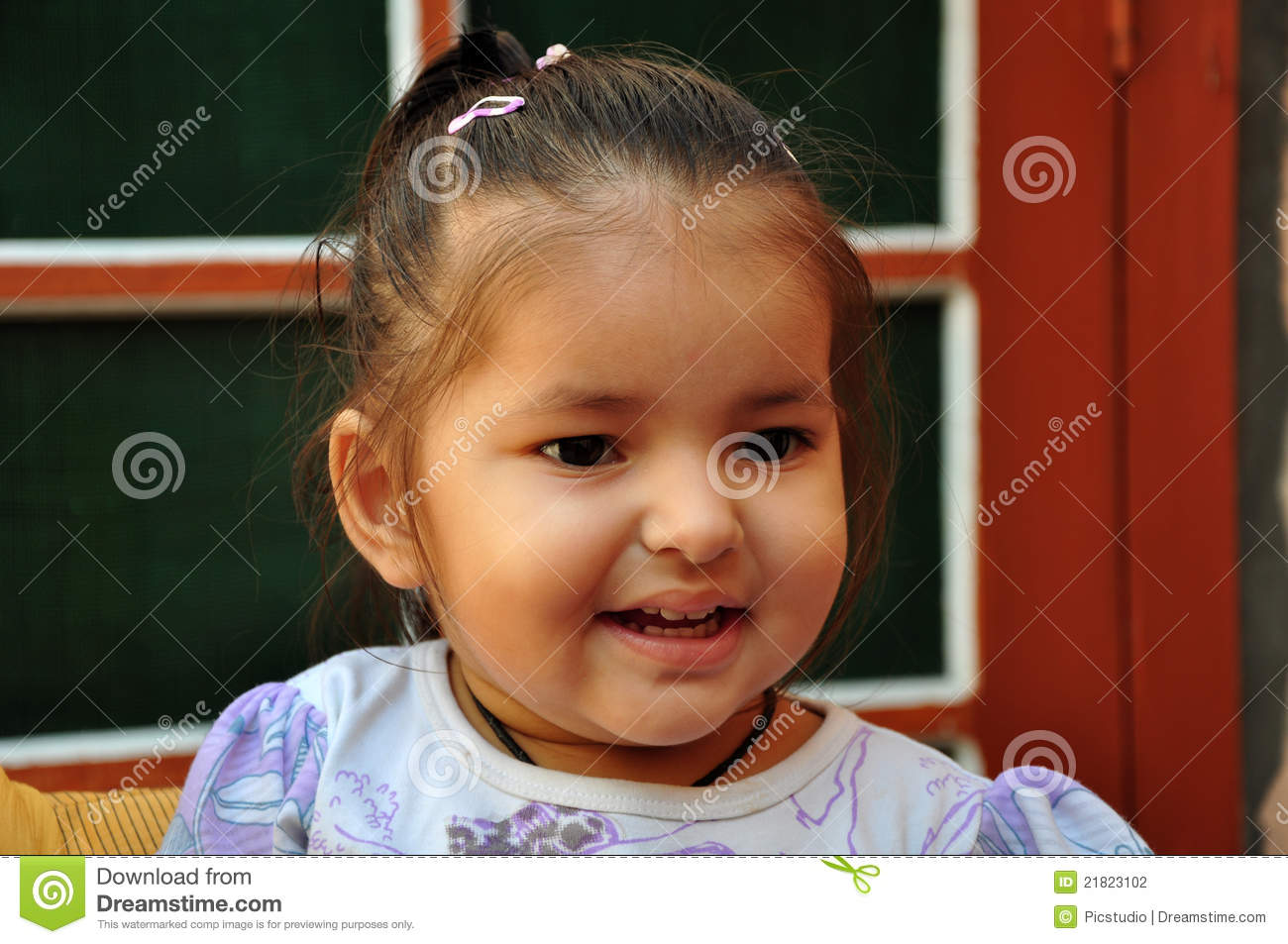 Laughing baby girl stock photo. Image of young, looks ...