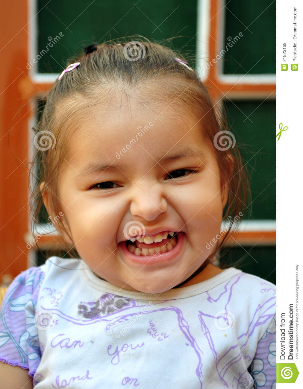 Laughing Baby Girl Royalty Free Stock Images - Image: 21823169
