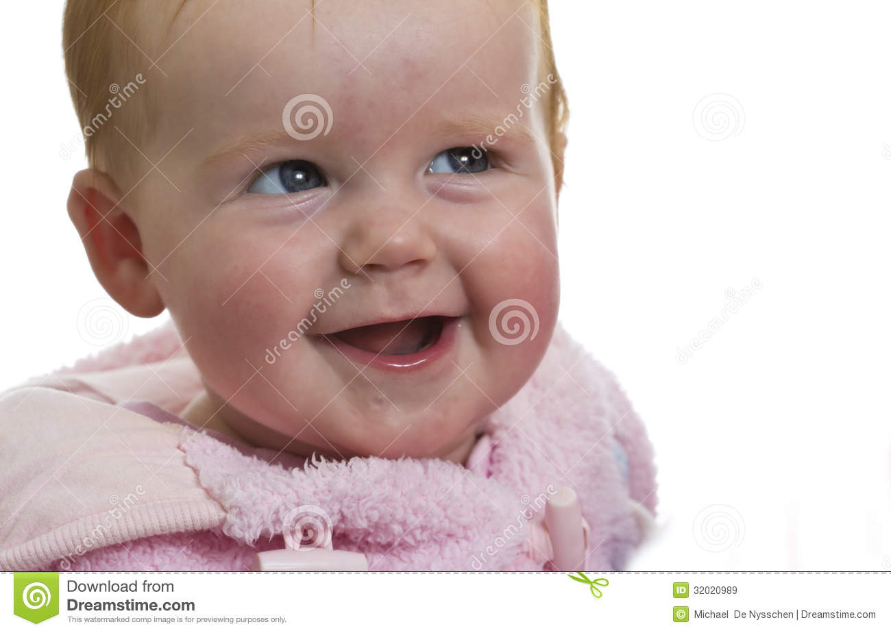 Laughing Baby Girl In Pink Royalty Free Stock Images ...