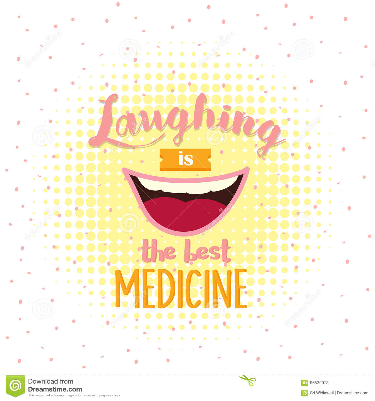 Laughing Is The Best Medicine Motivation Quotes Poster Text About