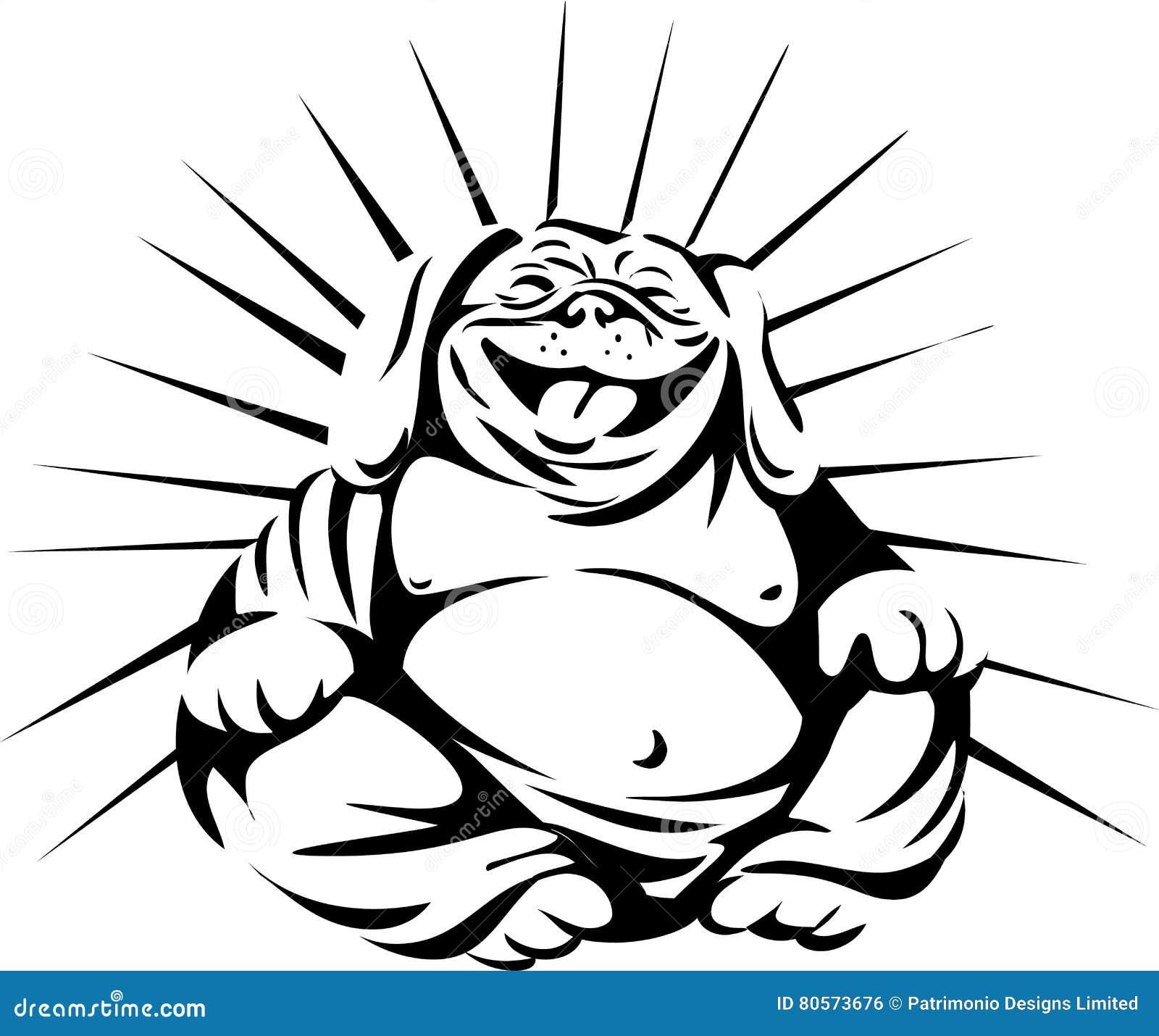 laughing bulldog buddha sitting cartoon vector english bulldog black and white clipart sad english bulldog puppy clipart